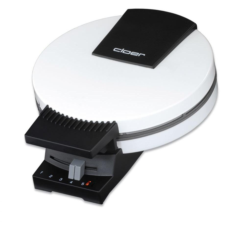 0271 1waffle(s) 800W Negro, Color blanco gofrera, Máquina para hacer barquillos