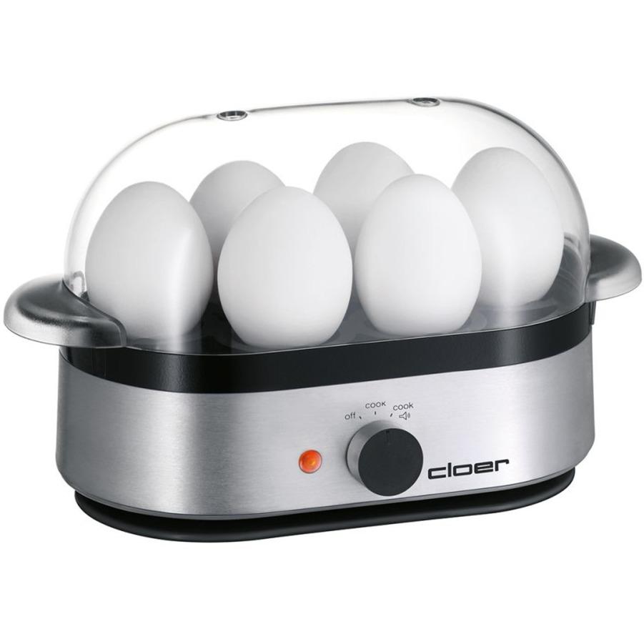6099 6eggs Negro, Plata cuecehuevos, Hervidor de huevos