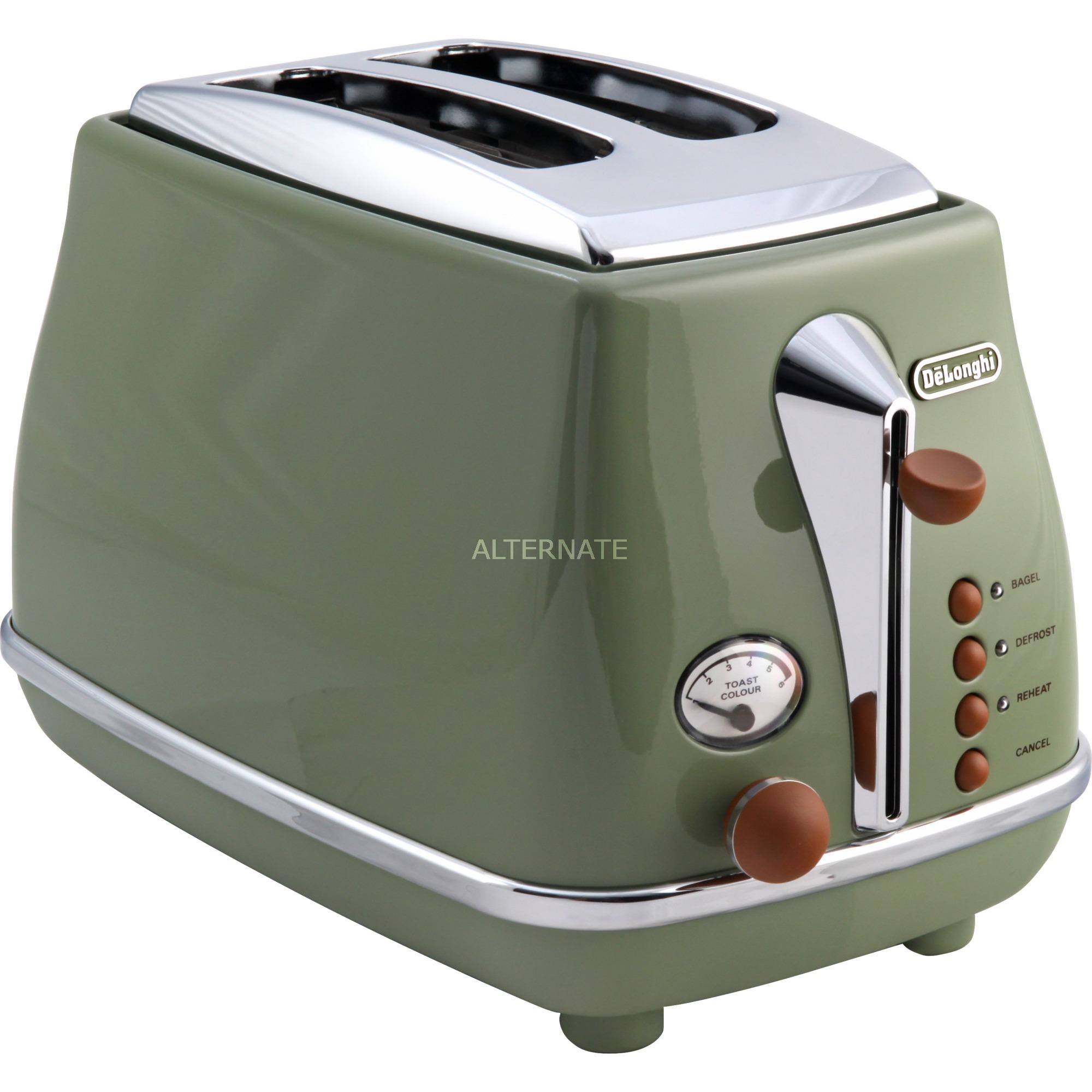 2103.GR tostadora 2 rebanada(s) Verde 900 W