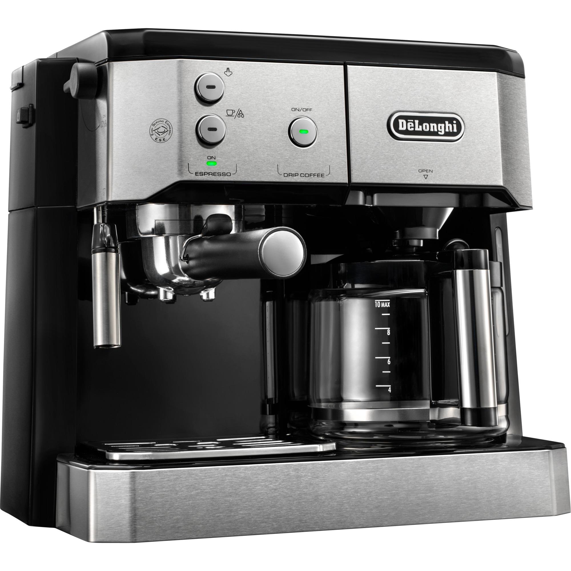 BCO 420.1 cafetera eléctrica Independiente Cafetera combinada Negro, Plata 1 L 10 tazas Semi-automática, Cafetera espresso