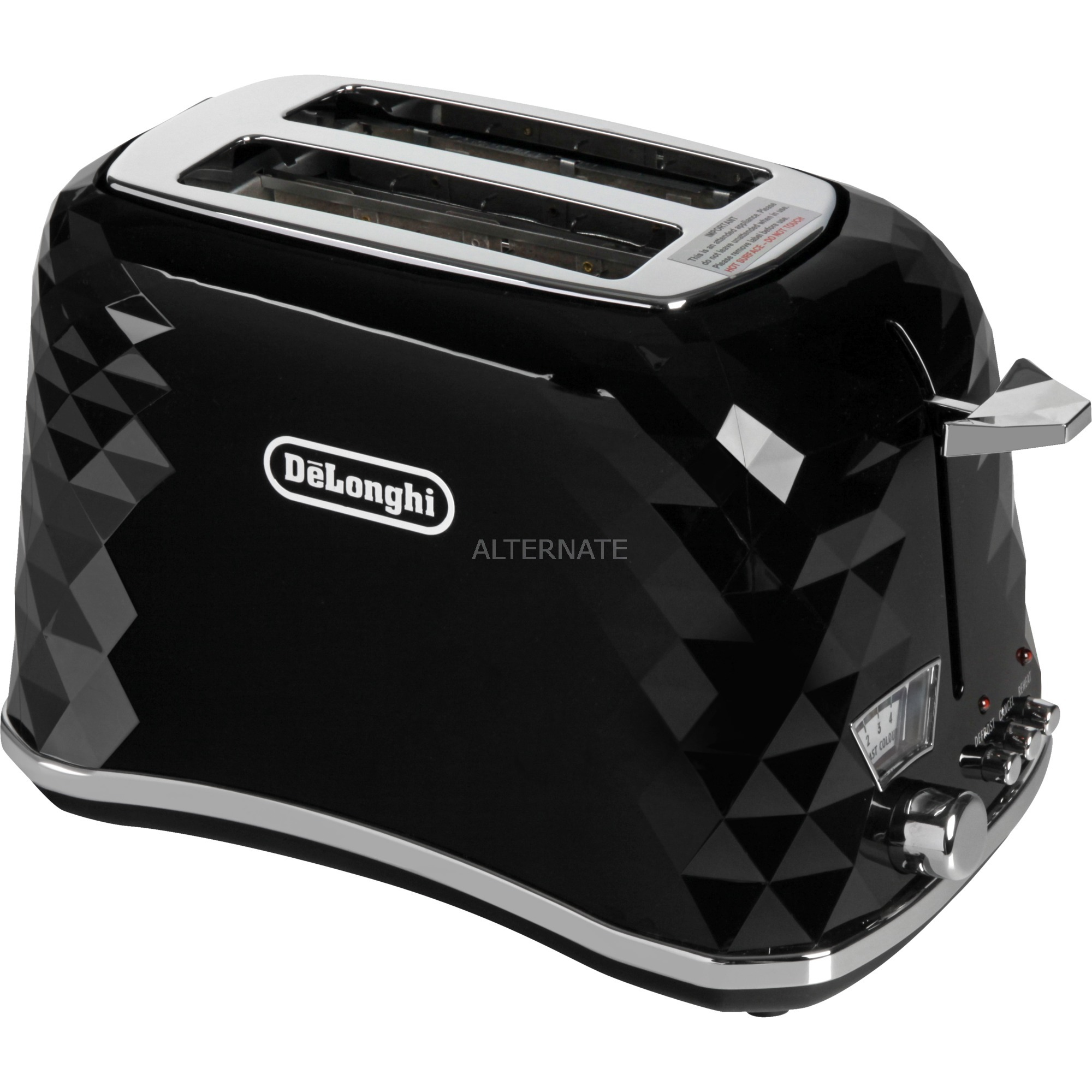 Brilliante 2slice(s) 900, -W Negro tostadora