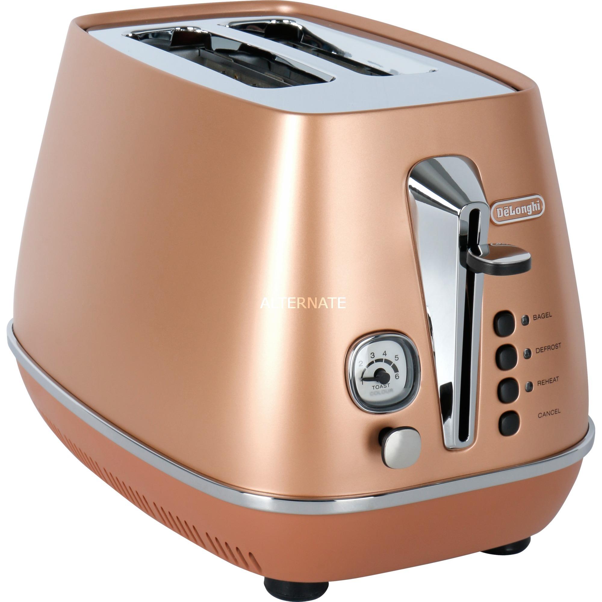 CTI 2103.CP 2slice(s) 1800W Cobre tostadora