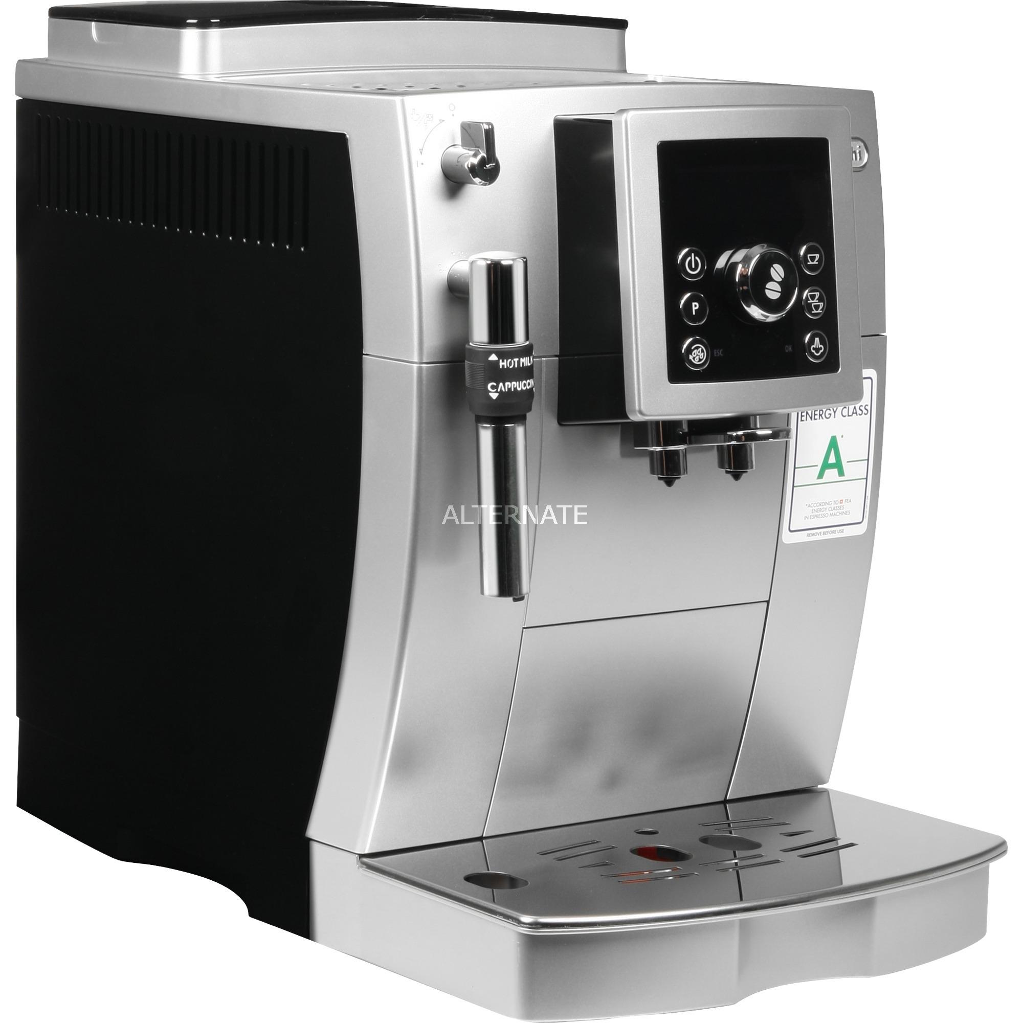 ECAM 23.420.SB cafetera eléctrica Máquina espresso Negro, Plata 1,8 L 2 tazas, Superautomática