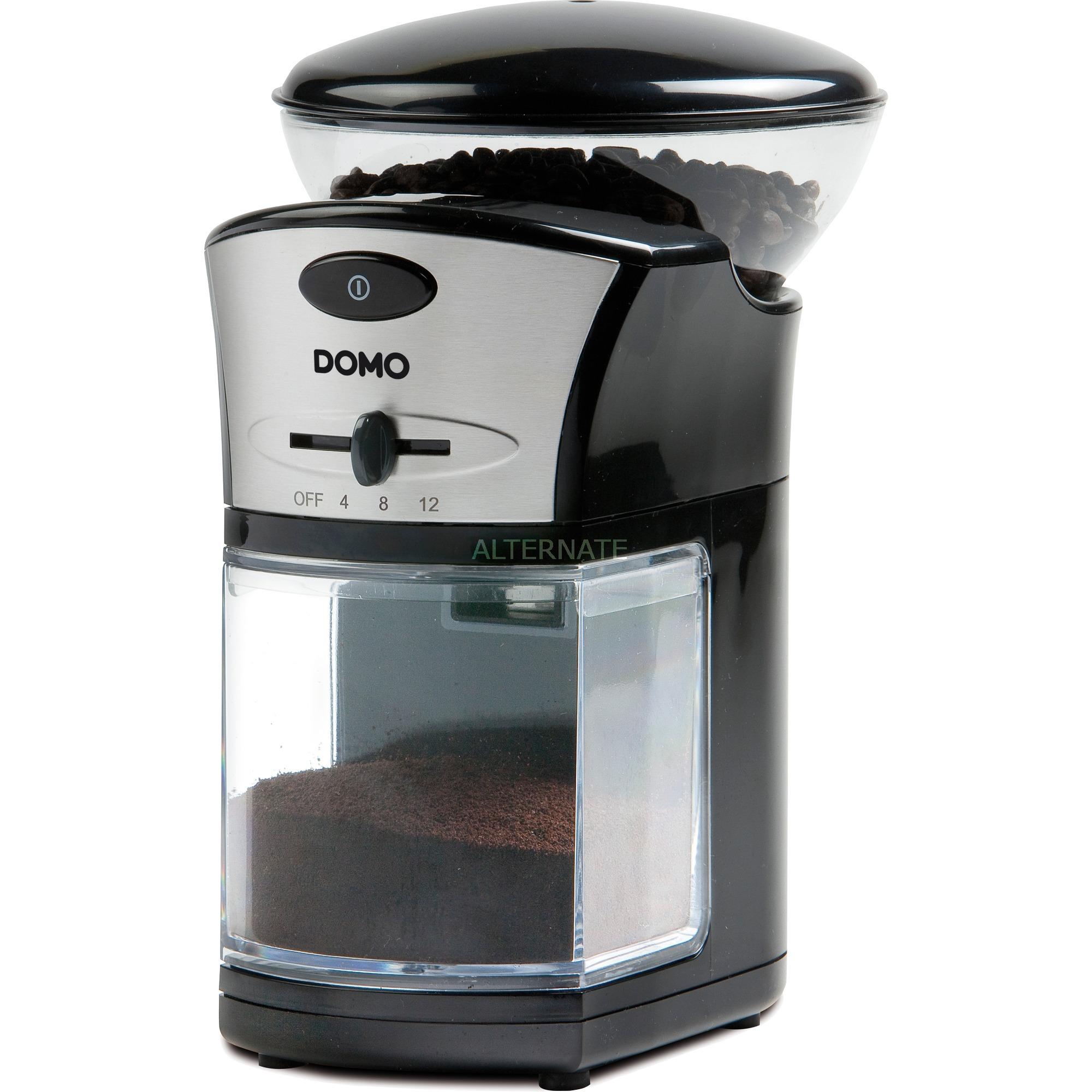 DO442KM Molinillo 100W Negro, Plata molinillo de café