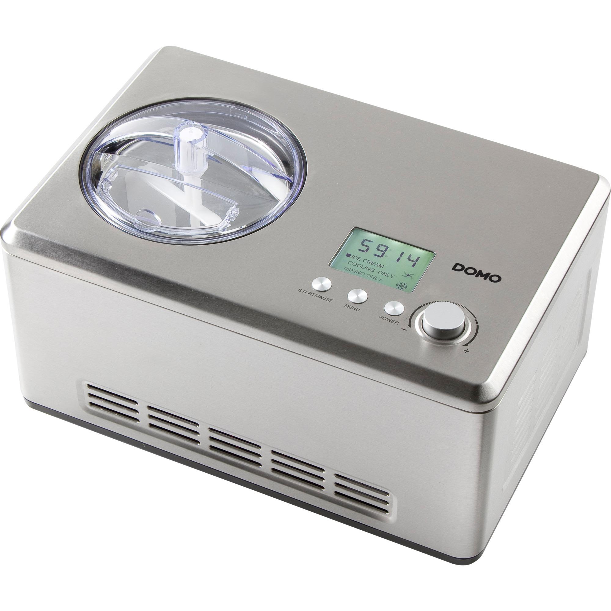 DO9201I máquina para helados Compresor de helados 2 L Acero inoxidable 180 W, Heladera