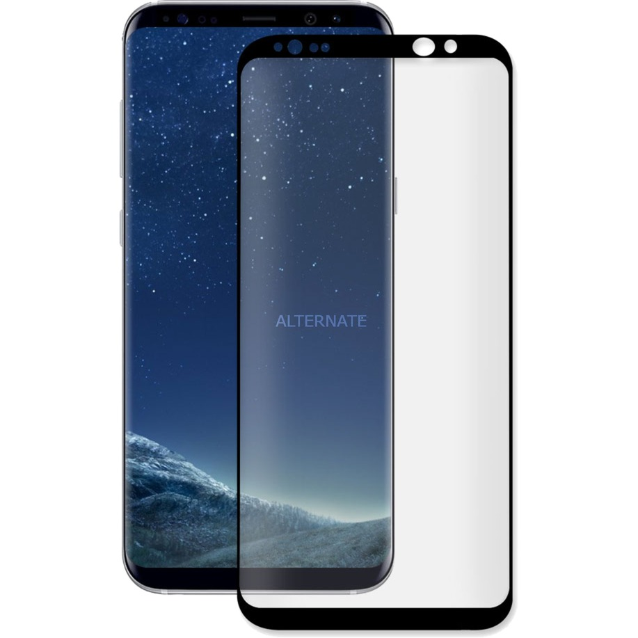 3D GLASS Galaxy S8+ Protector de pantalla 1pieza(s), Película protectora