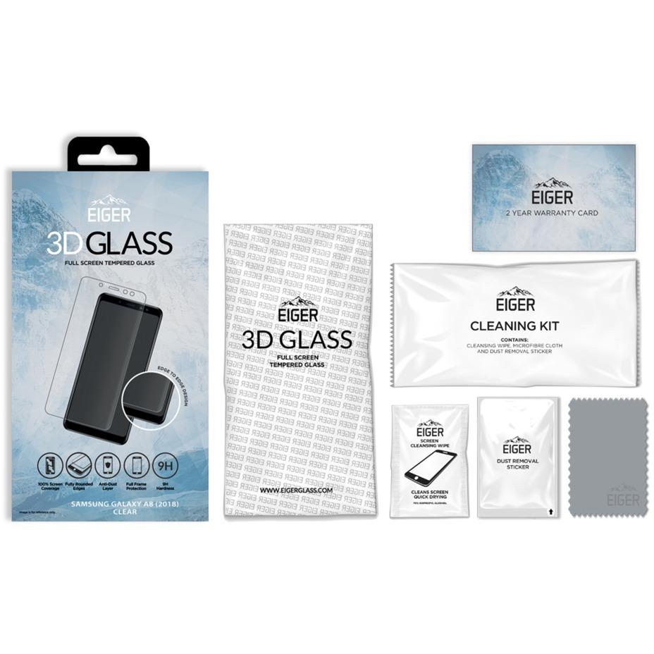 3D GLASS Protector de pantalla Galaxy A8 (2018) 1 pieza(s), Película protectora