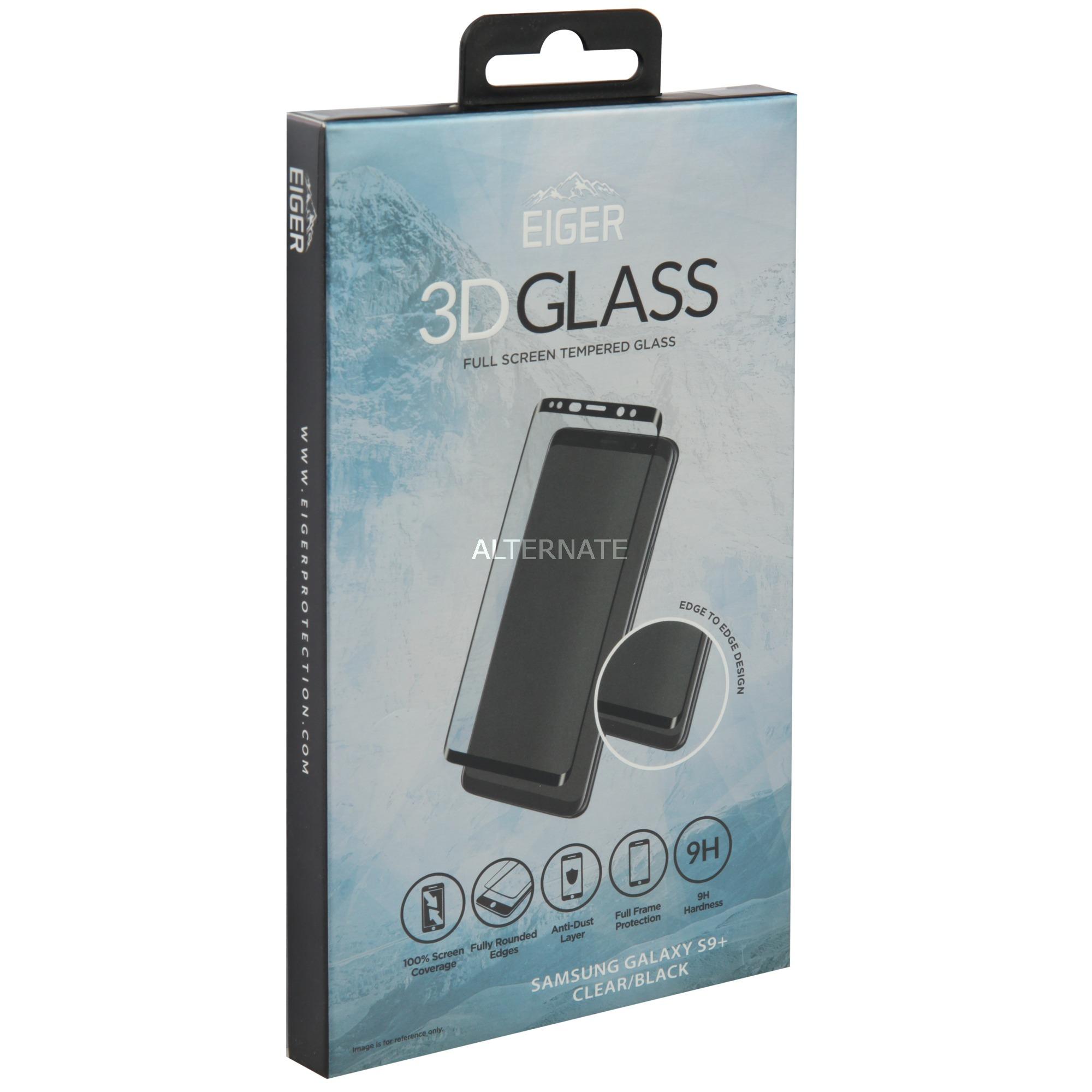 3D GLASS Protector de pantalla Samsung Galaxy S9+ 1 pieza(s), Película protectora