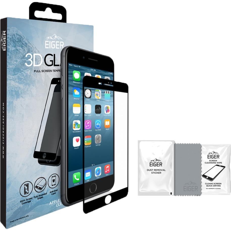 3D GLASS iPhone 8/7 Plus Protector de pantalla 1pieza(s), Película protectora