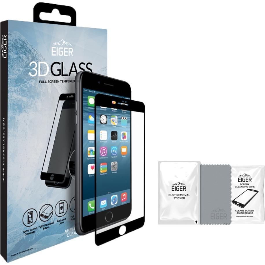 3D GLASS iPhone 8/7 Protector de pantalla 1pieza(s), Película protectora