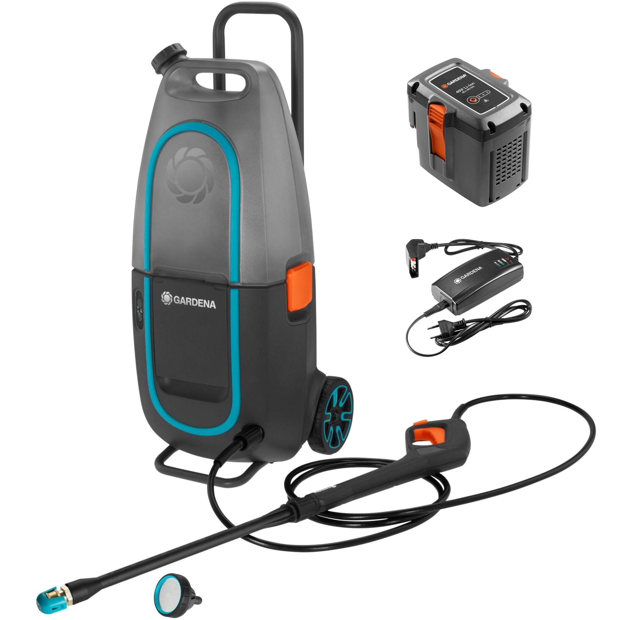 9341-20 Limpiadora de alta presión o Hidrolimpiadora Vertical Batería Negro, Hidrolimpiadora de alta presión