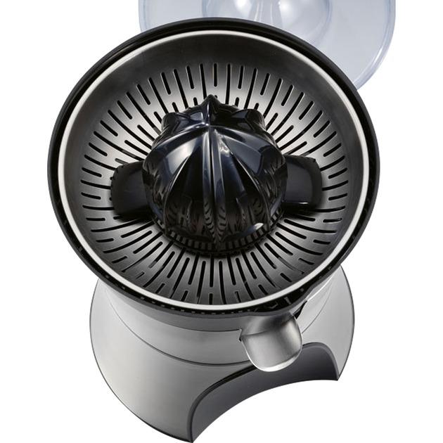 41138 prensa de cítricos eléctricos Negro, Plata, Exprimidor