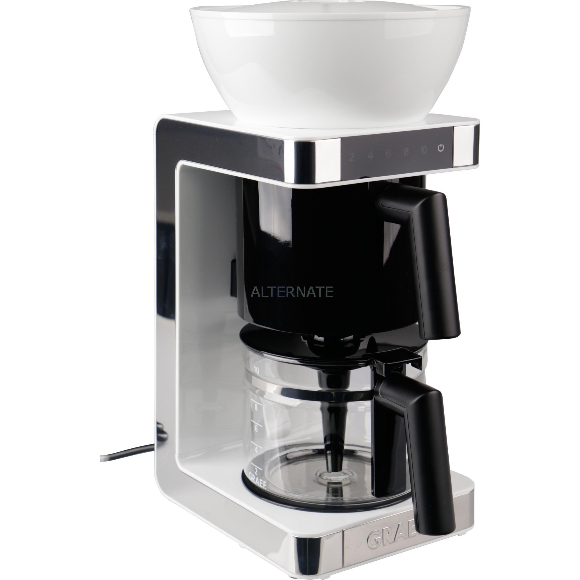 FK 701 Independiente Semi-automática Cafetera de filtro 1.25L 10tazas Blanco