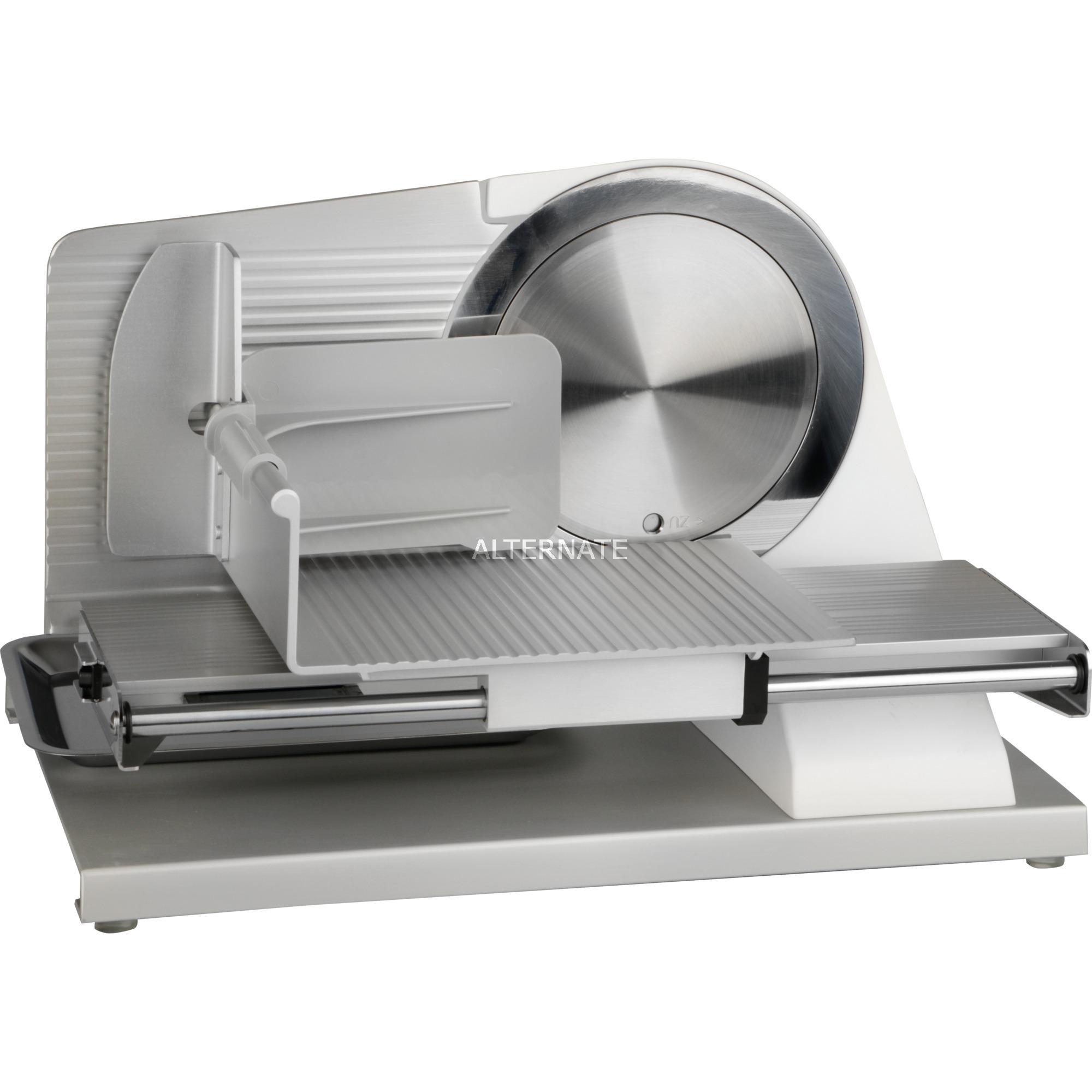SKS901EU Eléctrico 185W Aluminio Acero inoxidable, Color blanco rebanadora, Cortatodo