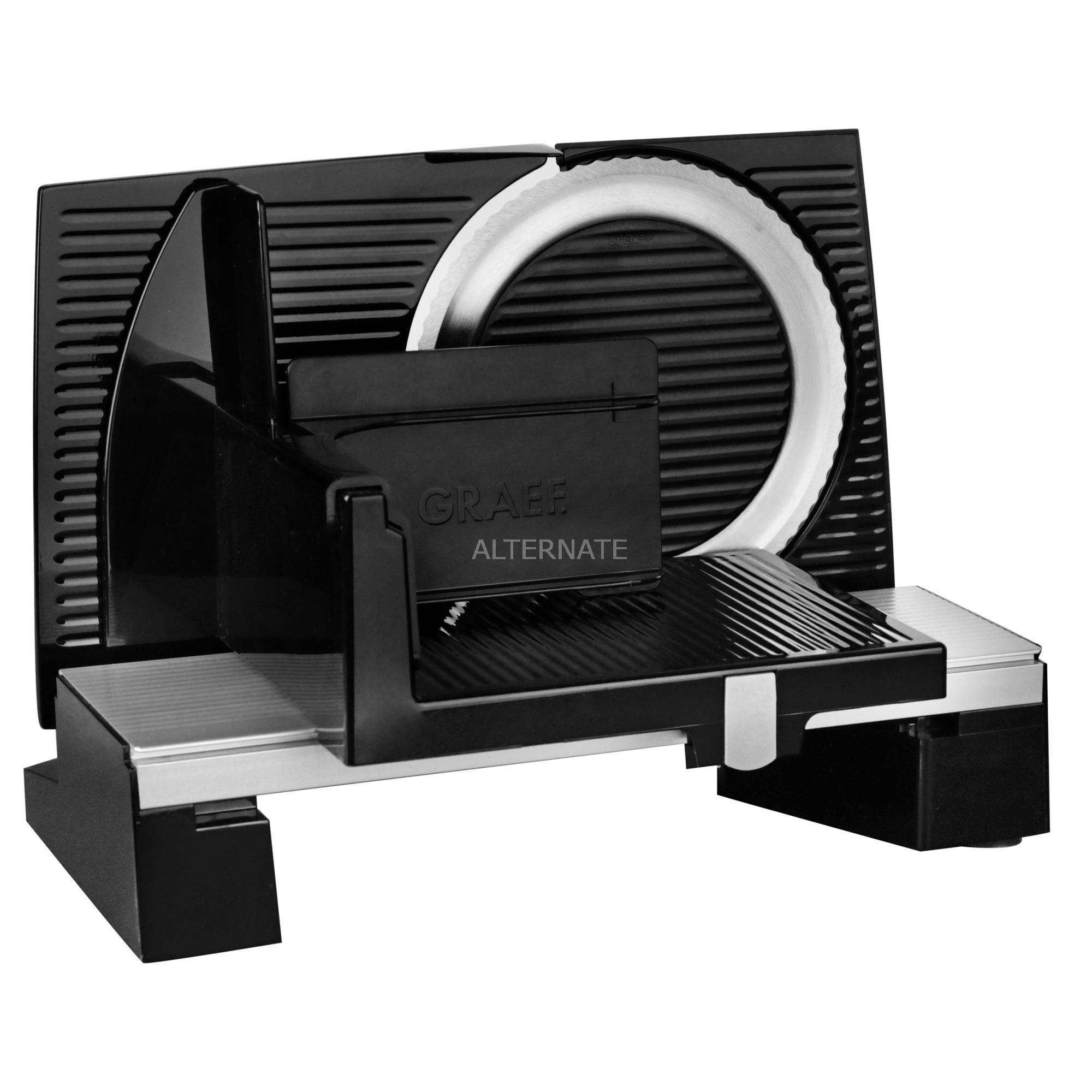 S 10002 Eléctrico 170W Aluminio Negro rebanadora, Cortatodo