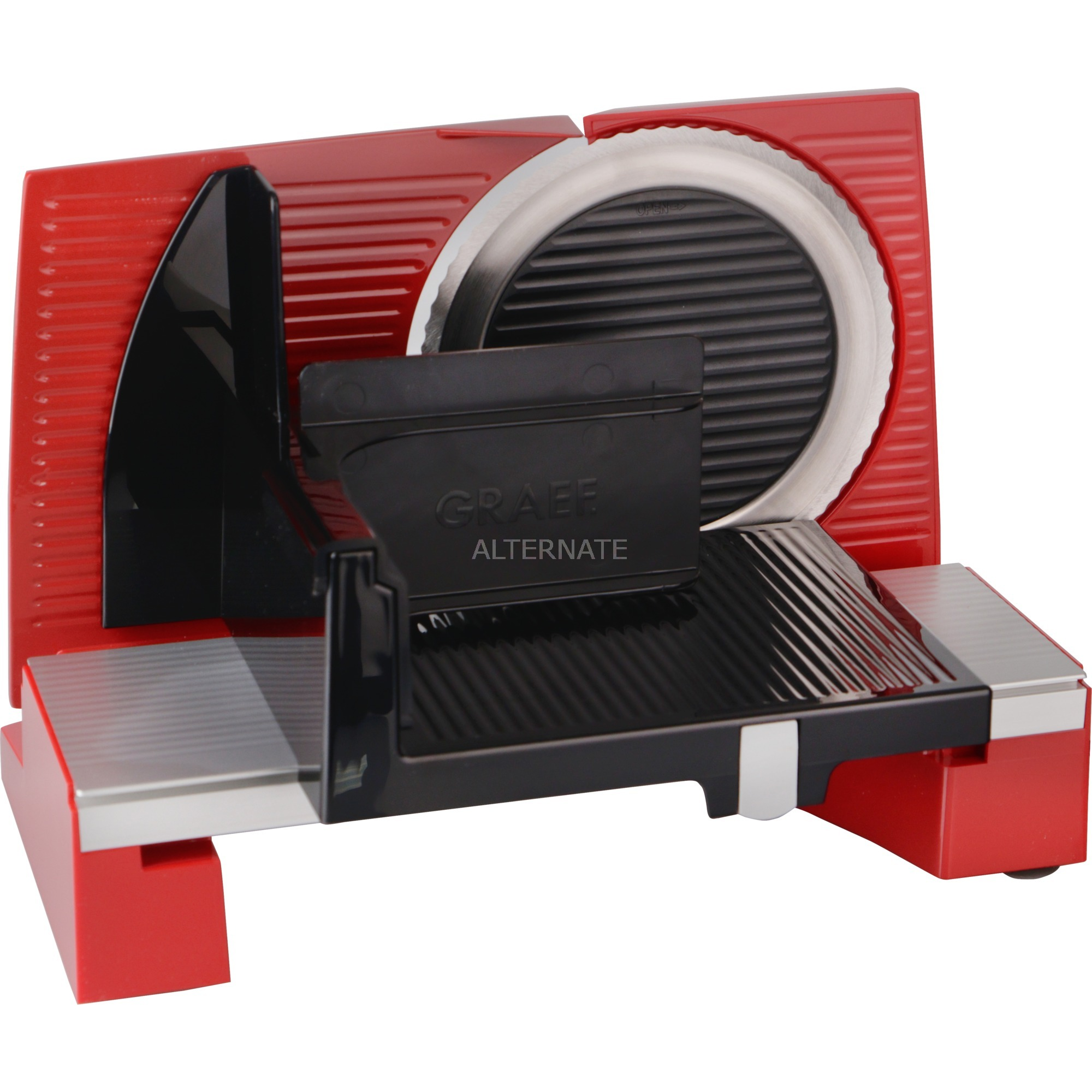 S 10003 rebanadora Eléctrico Rojo Aluminio 170 W, Cortatodo