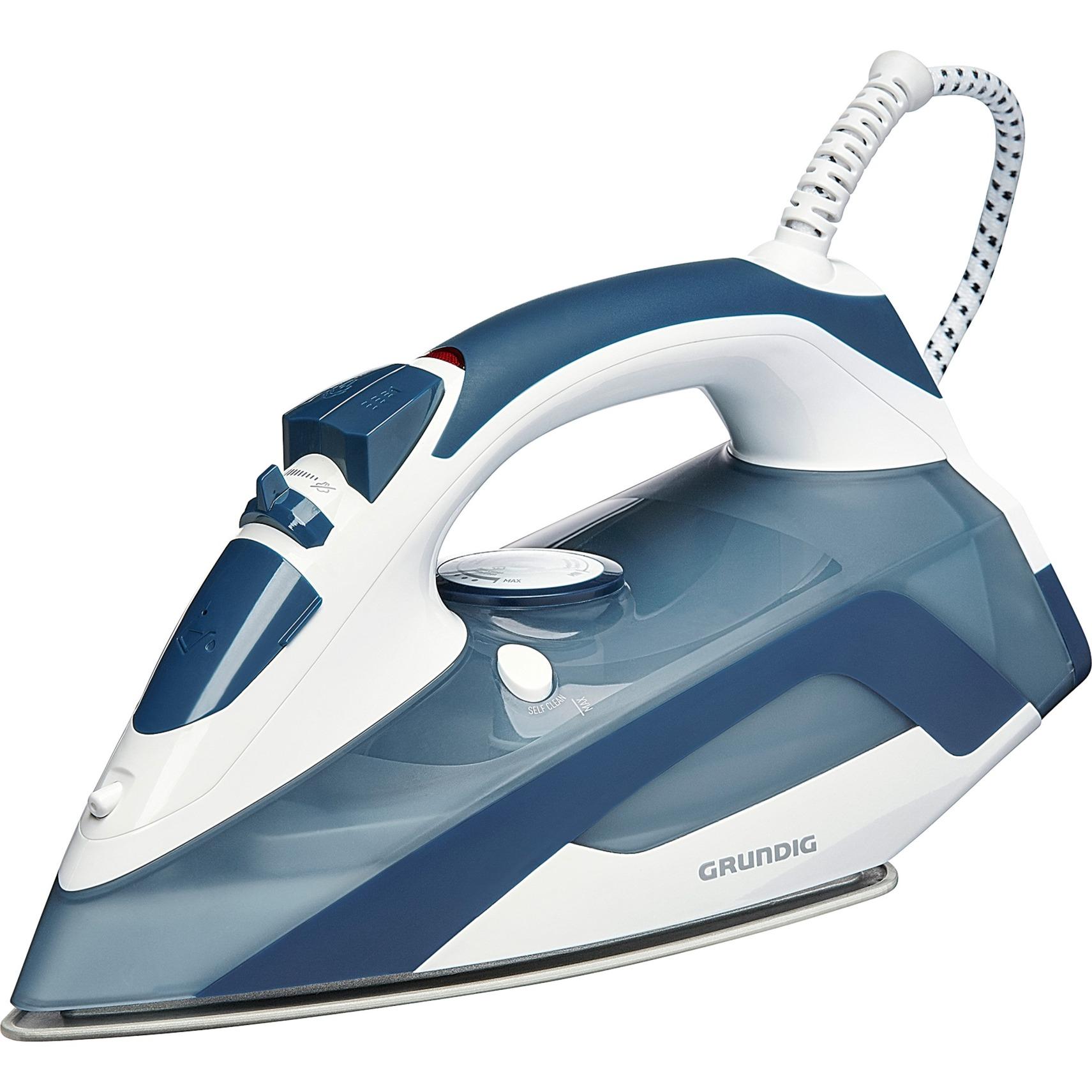 SI 4550 Plancha a vapor Suela de cerámica Azul, Blanco 2300 W