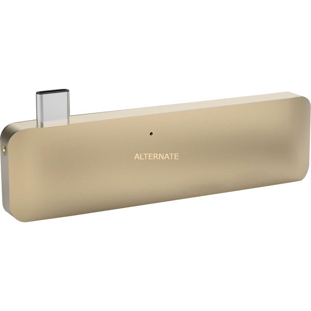 HyperDrive USB 3.1 (3.1 Gen 2) Type-C Oro nodo concentrador, Estación de acoplamiento