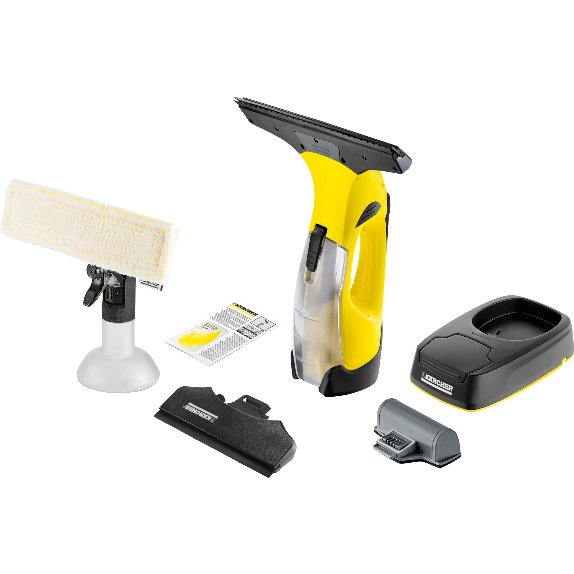 1.633-447.0 Negro, Color blanco, Amarillo utensilio limpiacristales, Aspiradora de ventanas