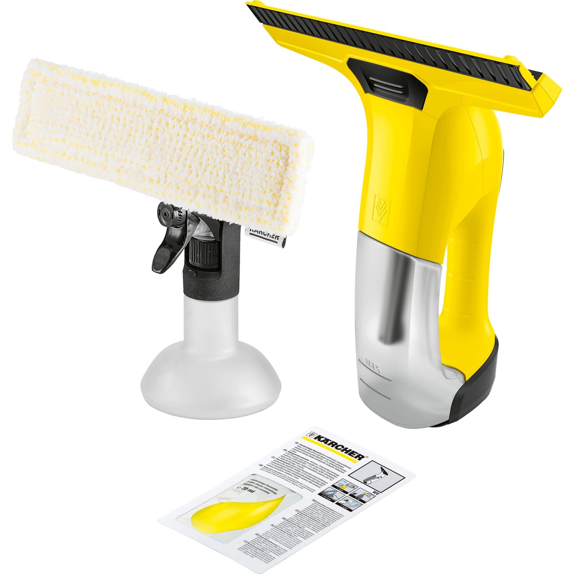 1.633-510.0 limpiador eléctrico ventana Negro, Amarillo 0,15 L, Aspiradora de ventanas