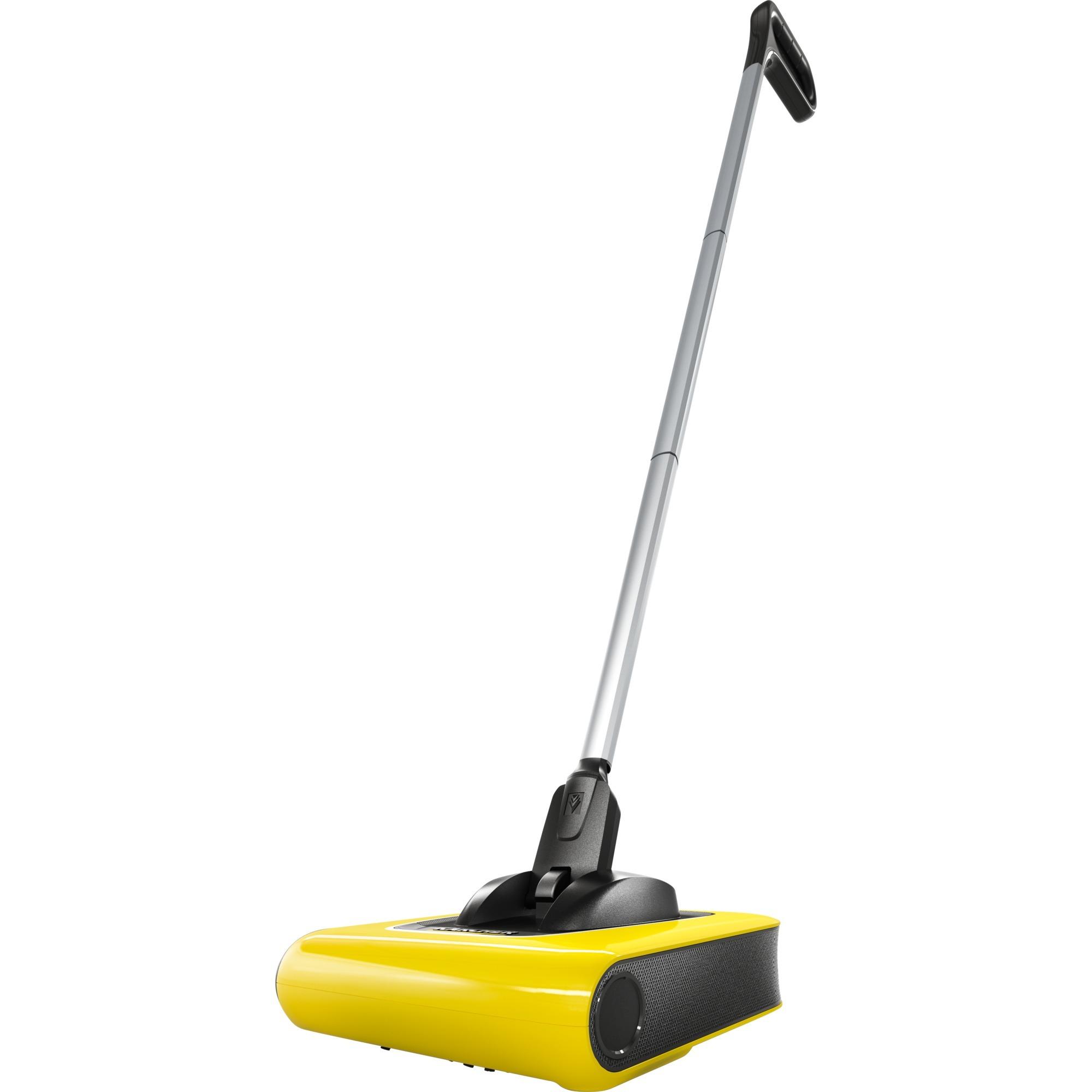 KB 5 Sin bolsa 0.37L Negro, Amarillo aspiradora de pie y escoba eléctrica, Aspiradora de suelo