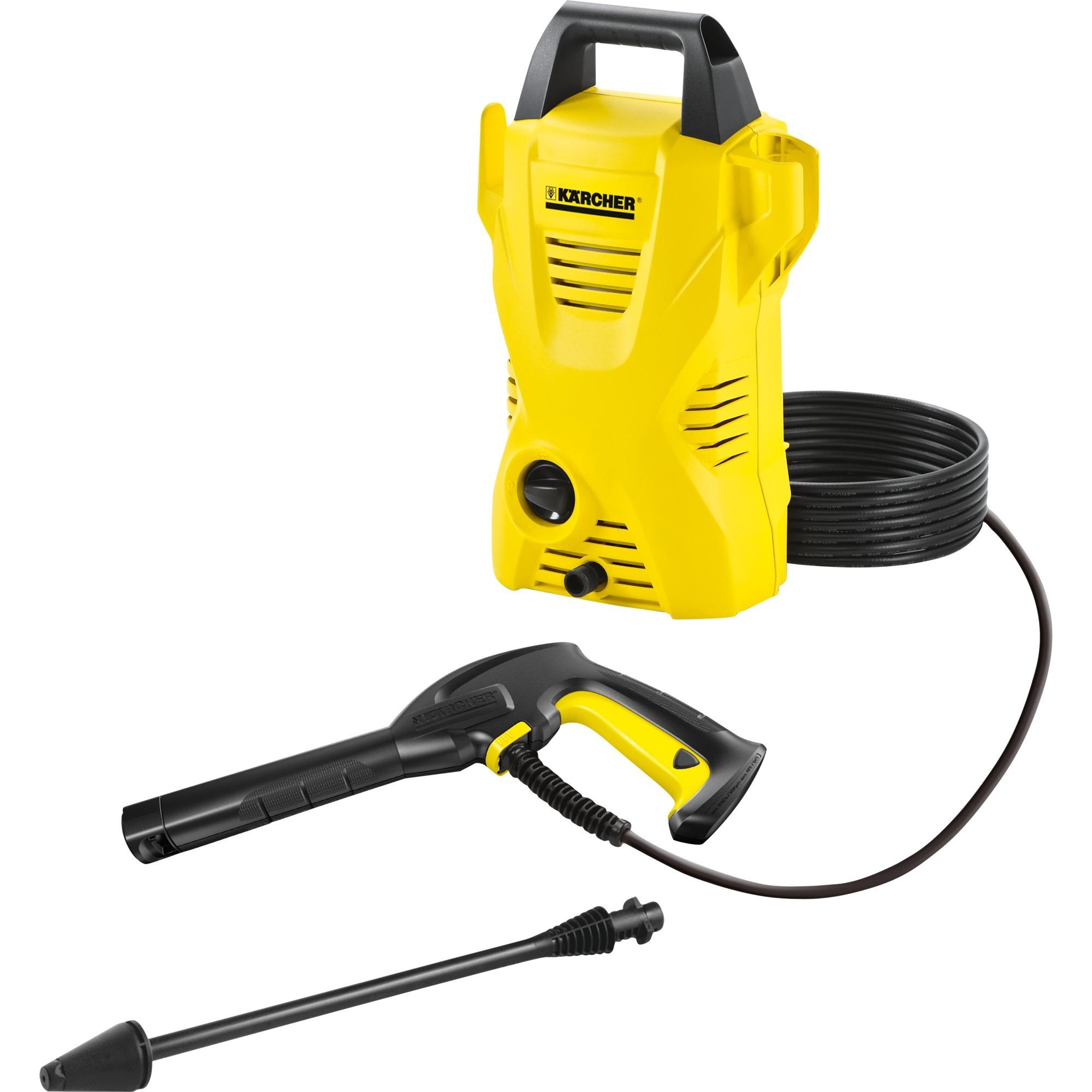 K 2 Basic Compacto Eléctrico 360l/h 1400W Negro, Amarillo Limpiadora de alta presión o Hidrolimpiadora, Hidrolimpiadora de alta presión
