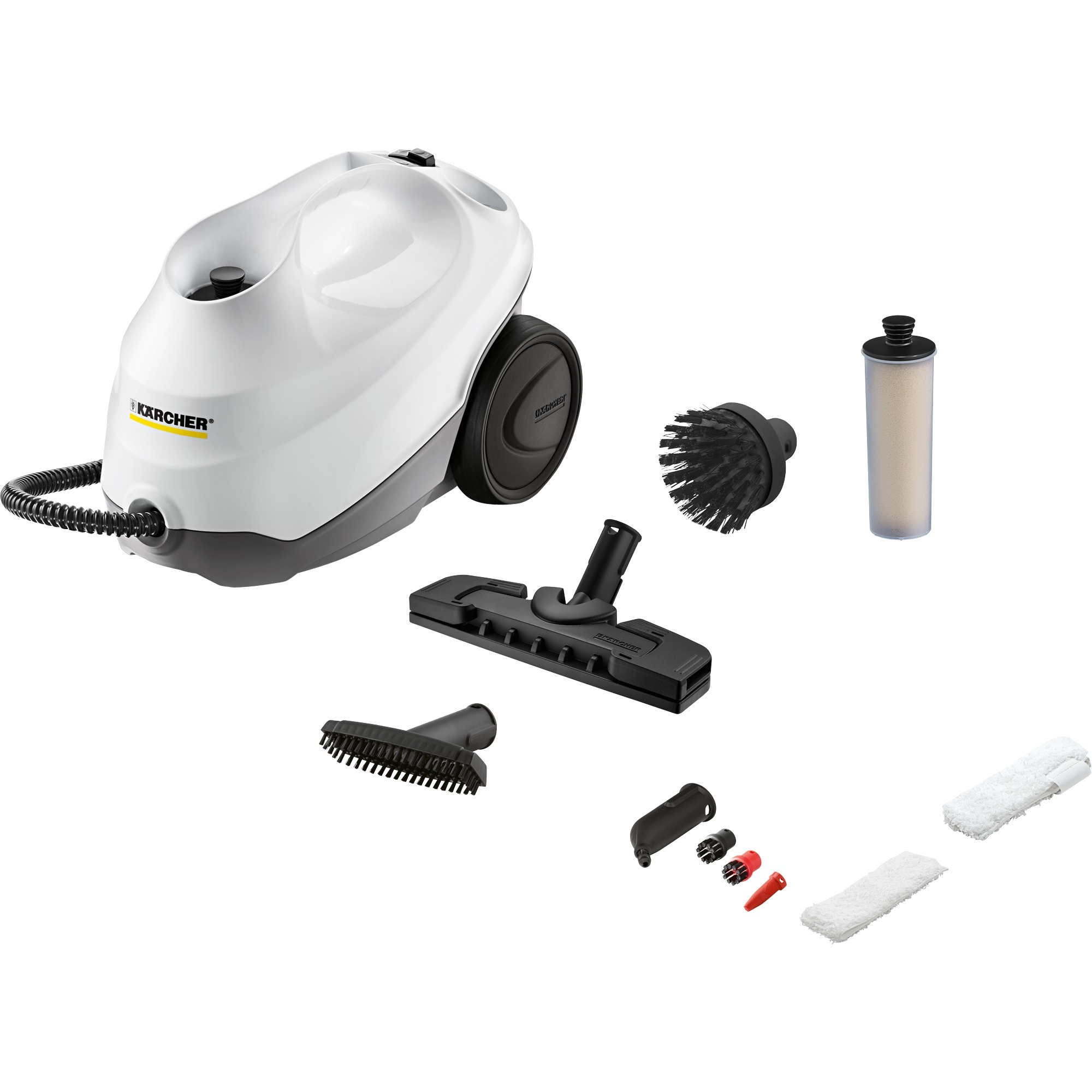 SC 3 Premium Limpiador a vapor de cilindro 1 L Negro, Blanco 1900 W, Limpiador de vapor