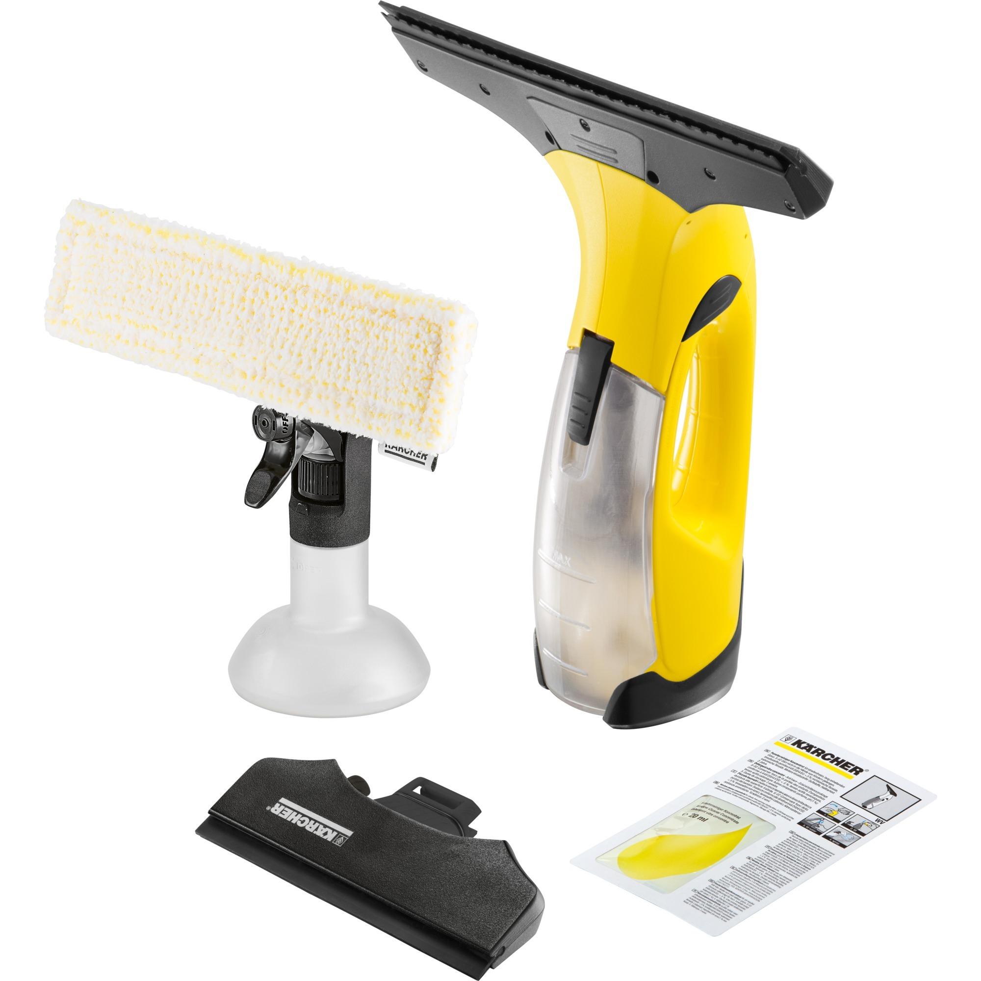 WV 2 100L Negro, Amarillo limpiador eléctrico ventana, Aspiradora de ventanas