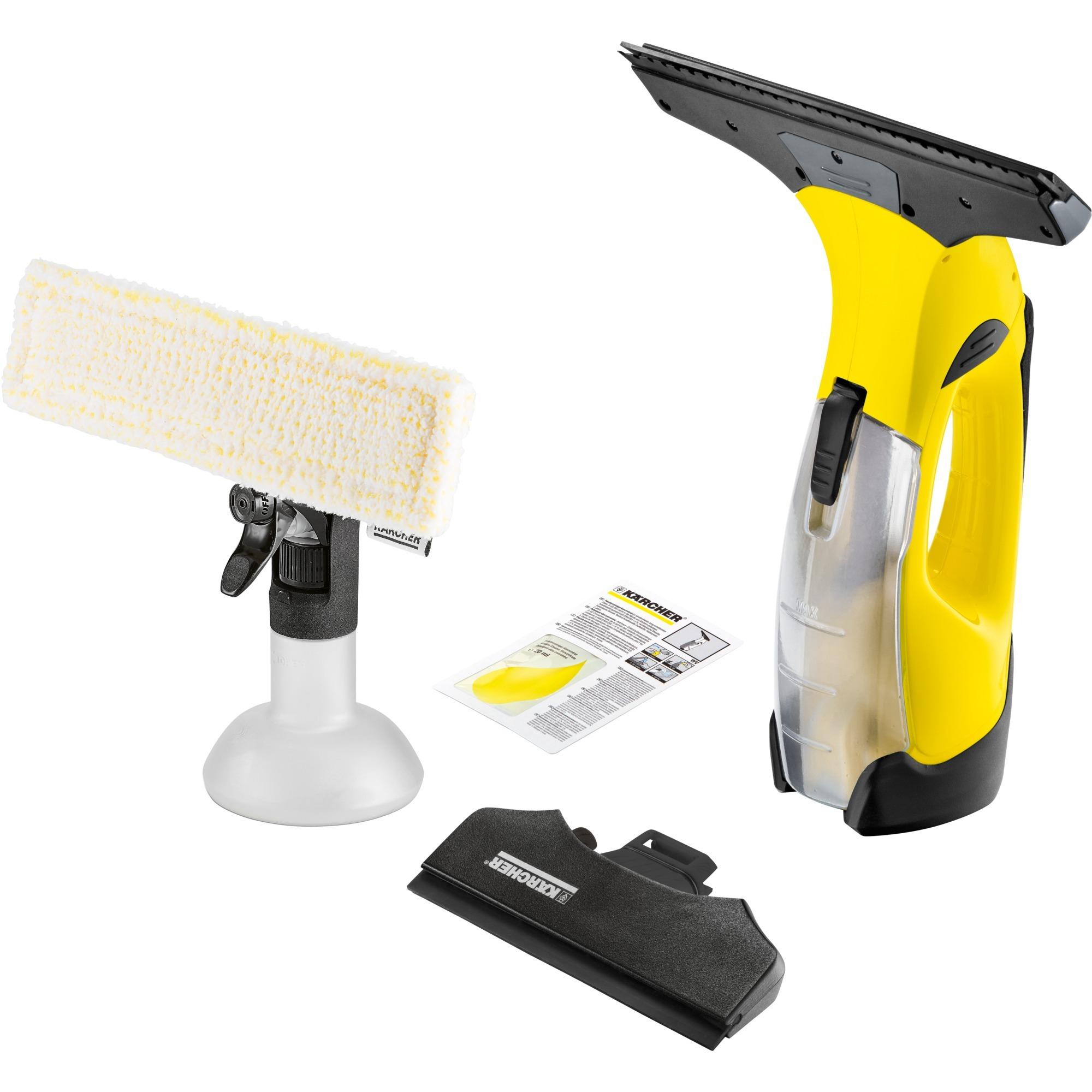 WV 5 Premium 0.1L Negro, Amarillo limpiador eléctrico ventana, Aspiradora de ventanas