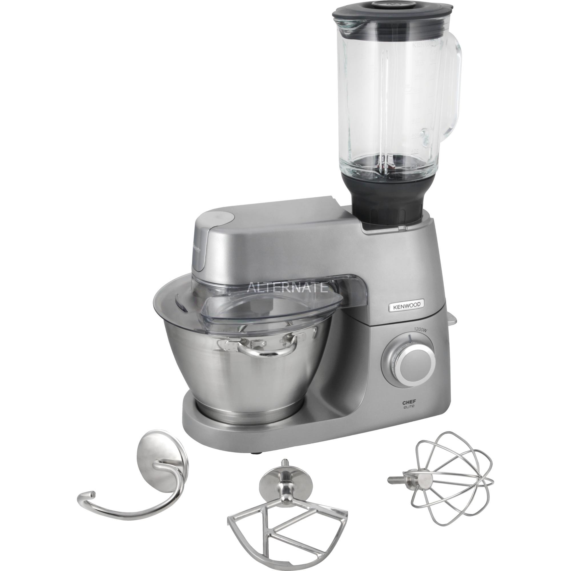 Chef Elite 1200W 4.6L Metálico robot de cocina