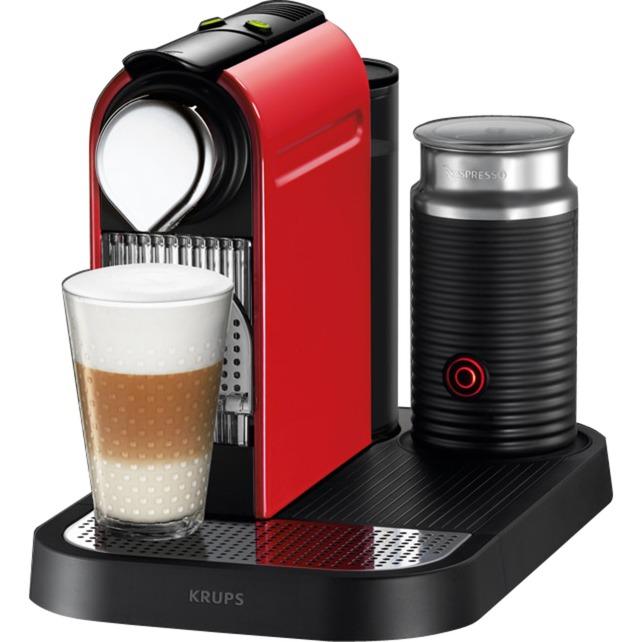 CitiZ & Milk XN7605 Independiente Máquina de café en cápsulas 1L Cereza, Rojo, Cafetera de cápsulas