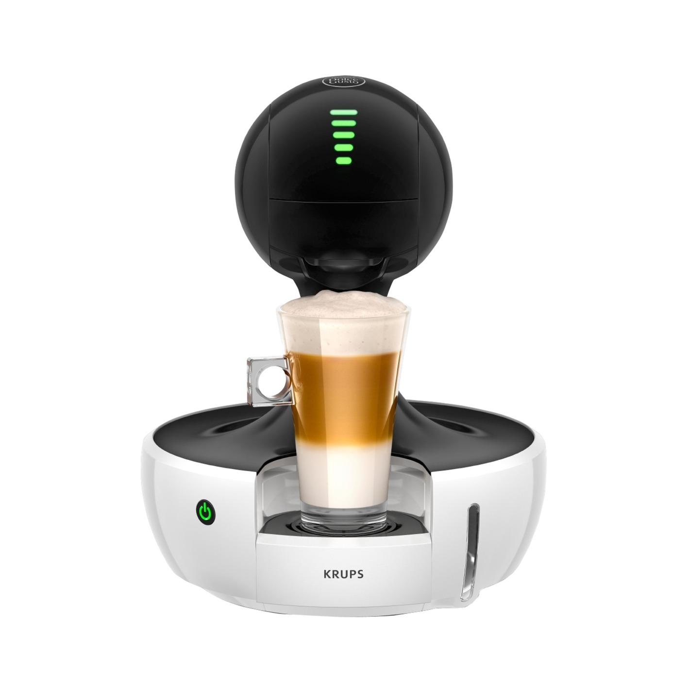 Drop Independiente Totalmente automática Máquina de café en cápsulas 0.8L 1tazas Negro, Blanco, Cafetera de cápsulas