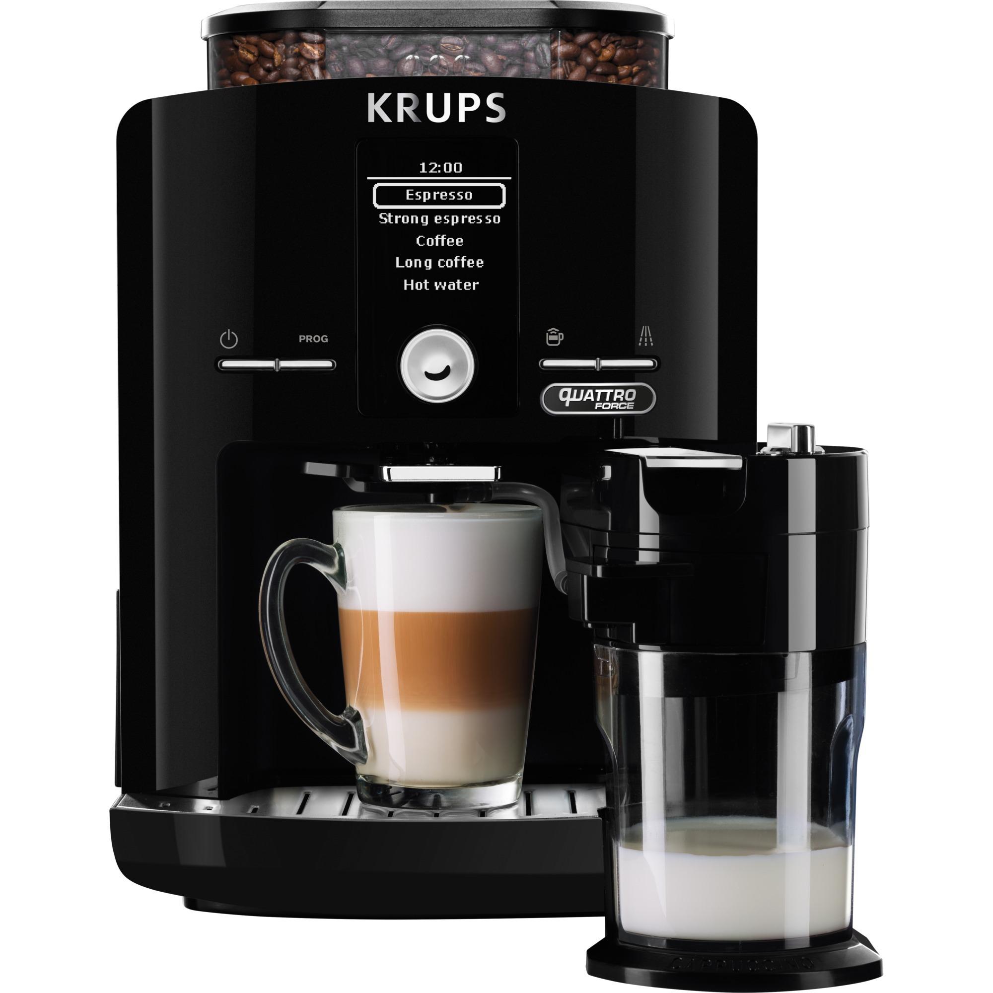 EA82F8 cafetera eléctrica Independiente Máquina espresso Negro 1,7 L 9 tazas Totalmente automática, Superautomática