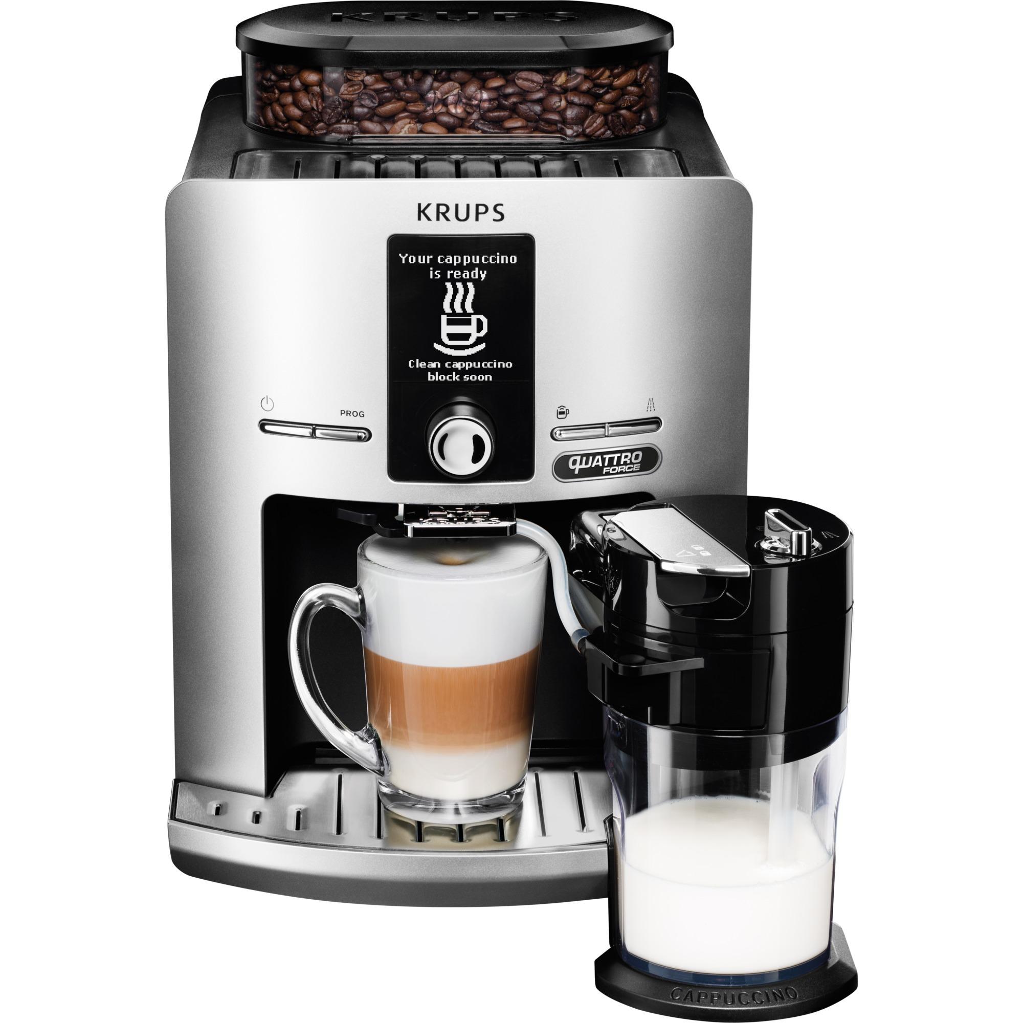 EA82FE Independiente Totalmente automática Máquina espresso 1.7L 12tazas Plata cafetera eléctrica, Superautomática