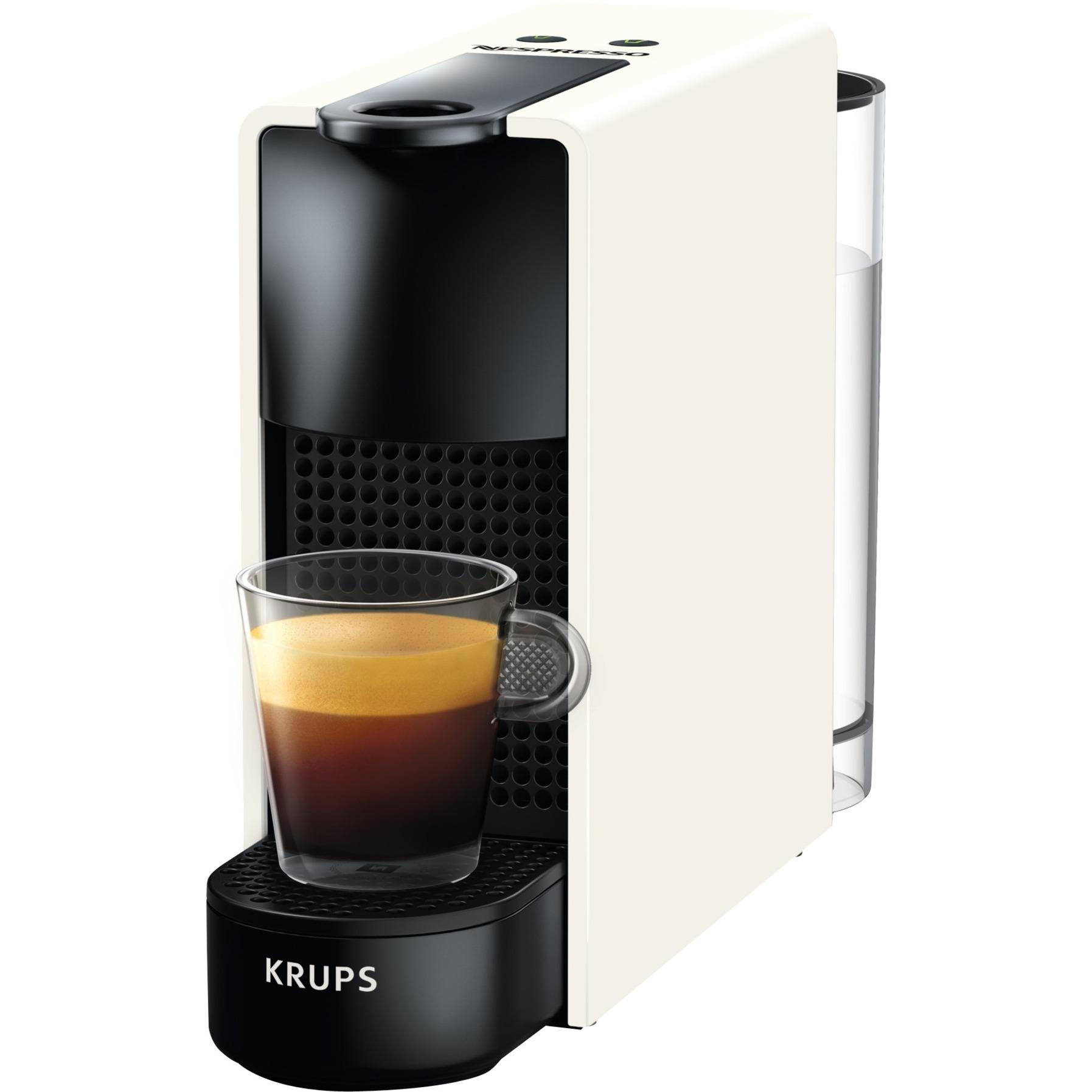 Essenza Mini XN110110 Independiente Máquina de café en cápsulas Negro, Blanco 0,6 L 1 tazas Manual, Cafetera de cápsulas