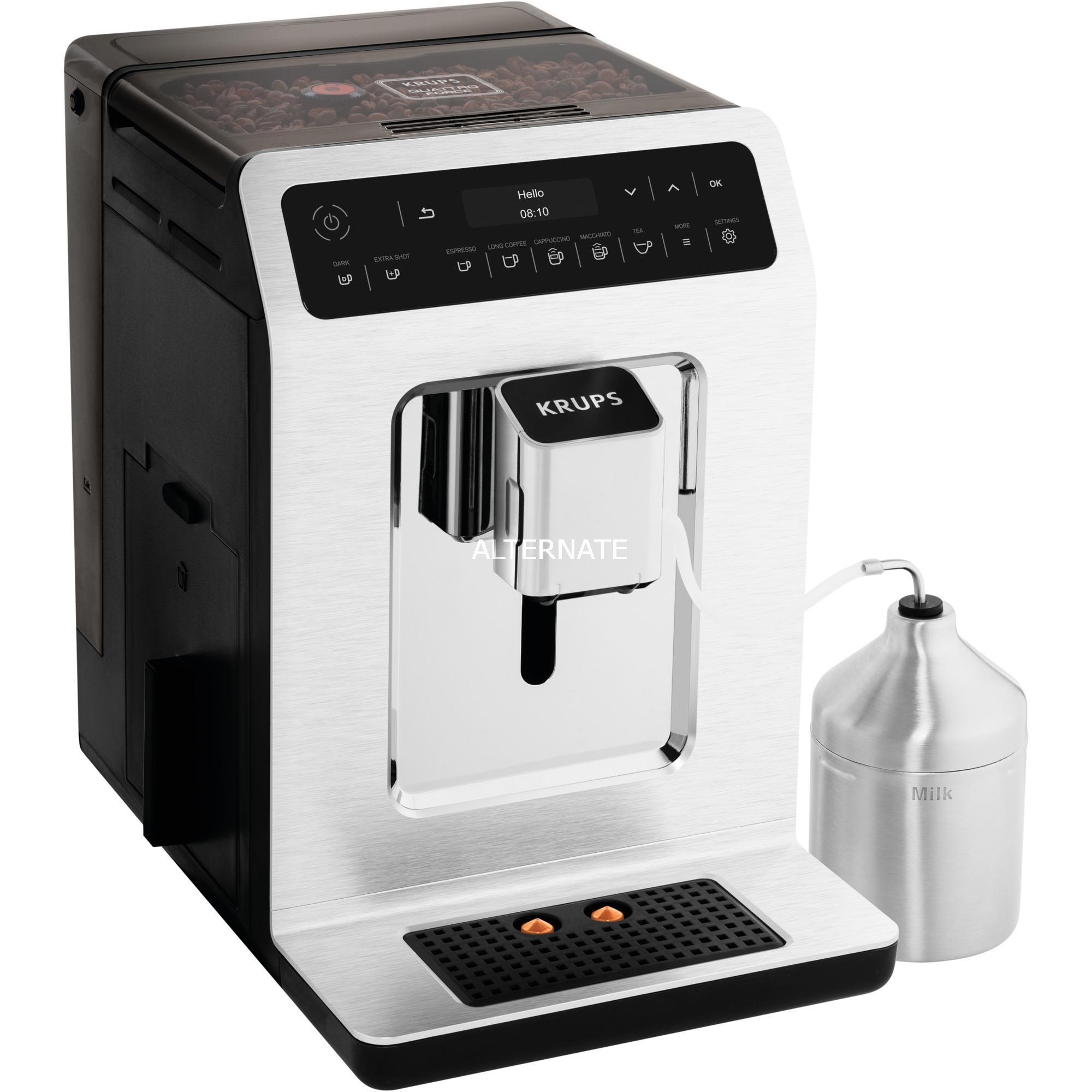Evidence EA891C Independiente Totalmente automática Máquina espresso 2.3L 2tazas Cromo, Metálico cafetera eléctrica, Superautomática