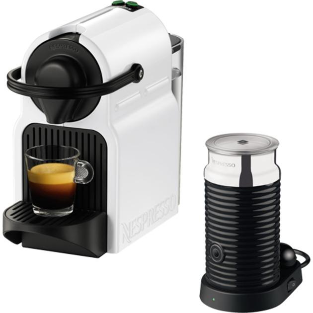 Inissia XN 1011 Independiente Máquina de café en cápsulas 0.7L Negro, Acero inoxidable, Color blanco, Cafetera de cápsulas