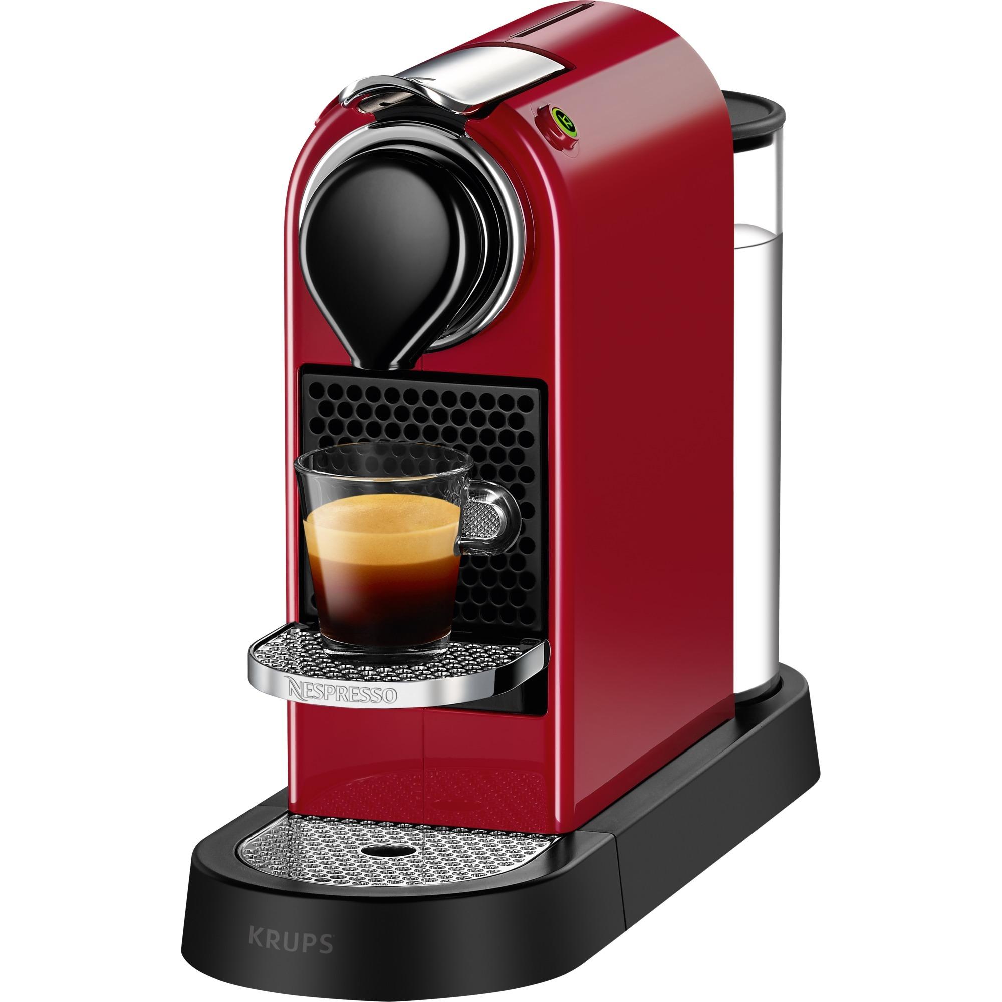 Nespresso CitiZ Independiente Máquina de café en cápsulas Negro, Rojo 1 L, Cafetera de cápsulas