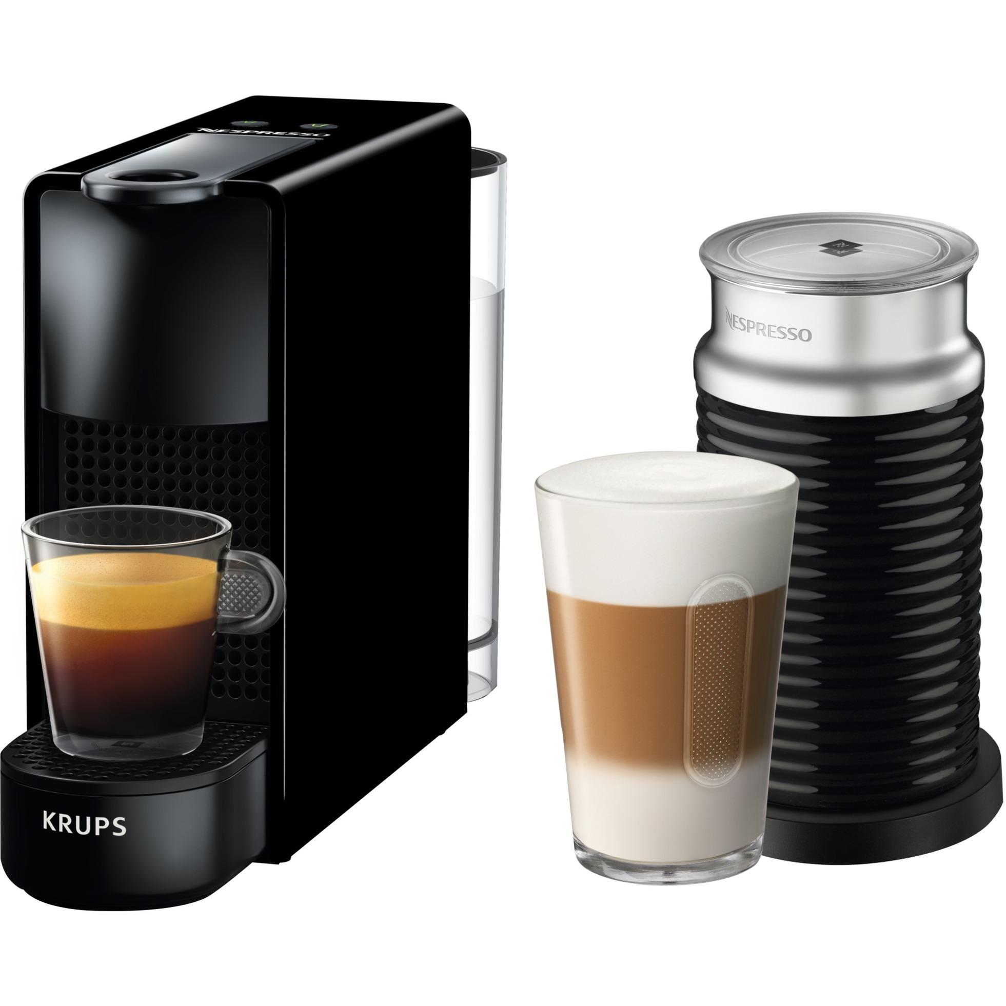 XN1118 Independiente Manual Máquina espresso 0.6L 1tazas Negro cafetera eléctrica, Cafetera de cápsulas
