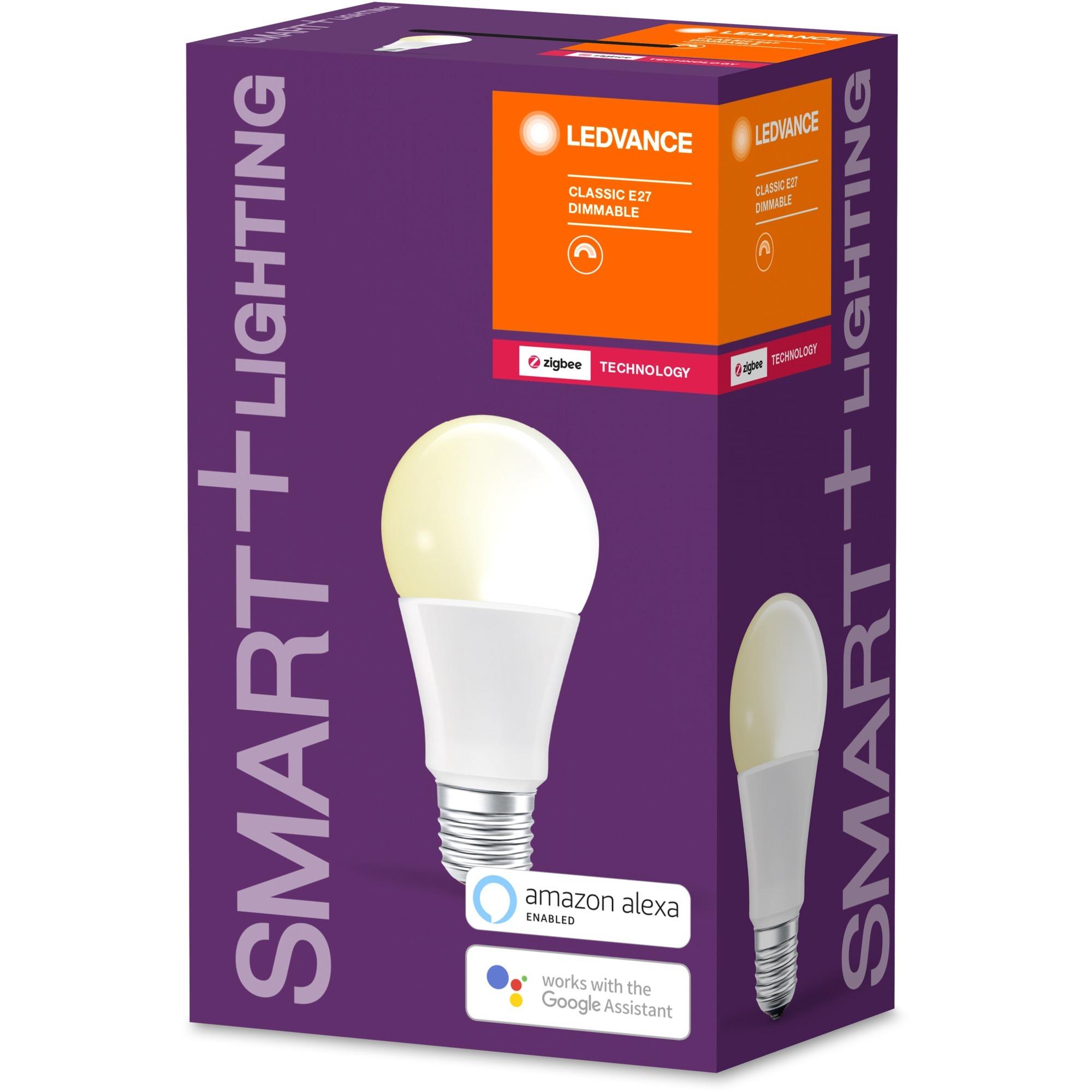 SMART+ Classic Dimmable Bombilla inteligente Blanco ZigBee 8,5 W, Lámpara LED