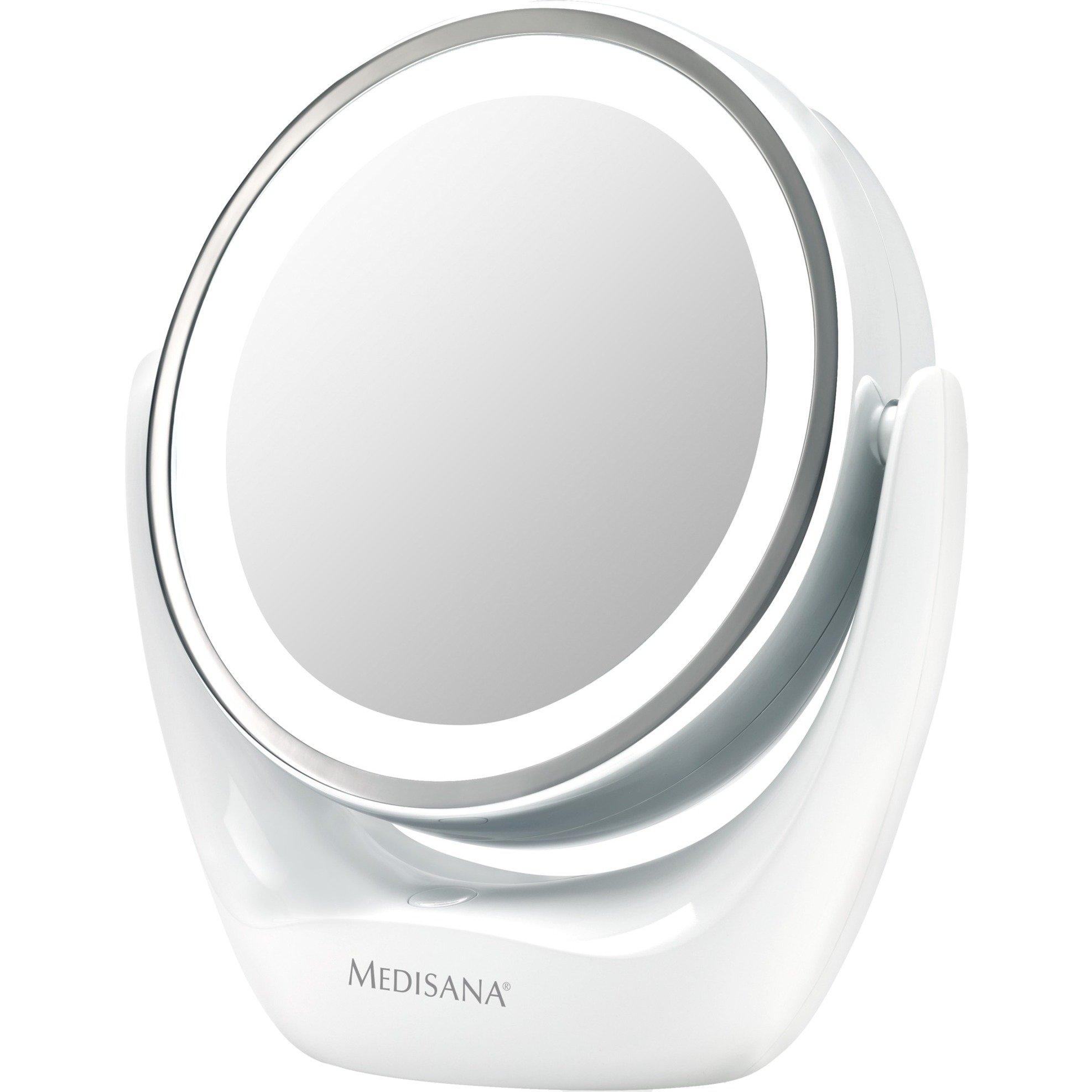 CM 835 Independiente Alrededor Cromo espejo para maquillaje, Espejo de aumento