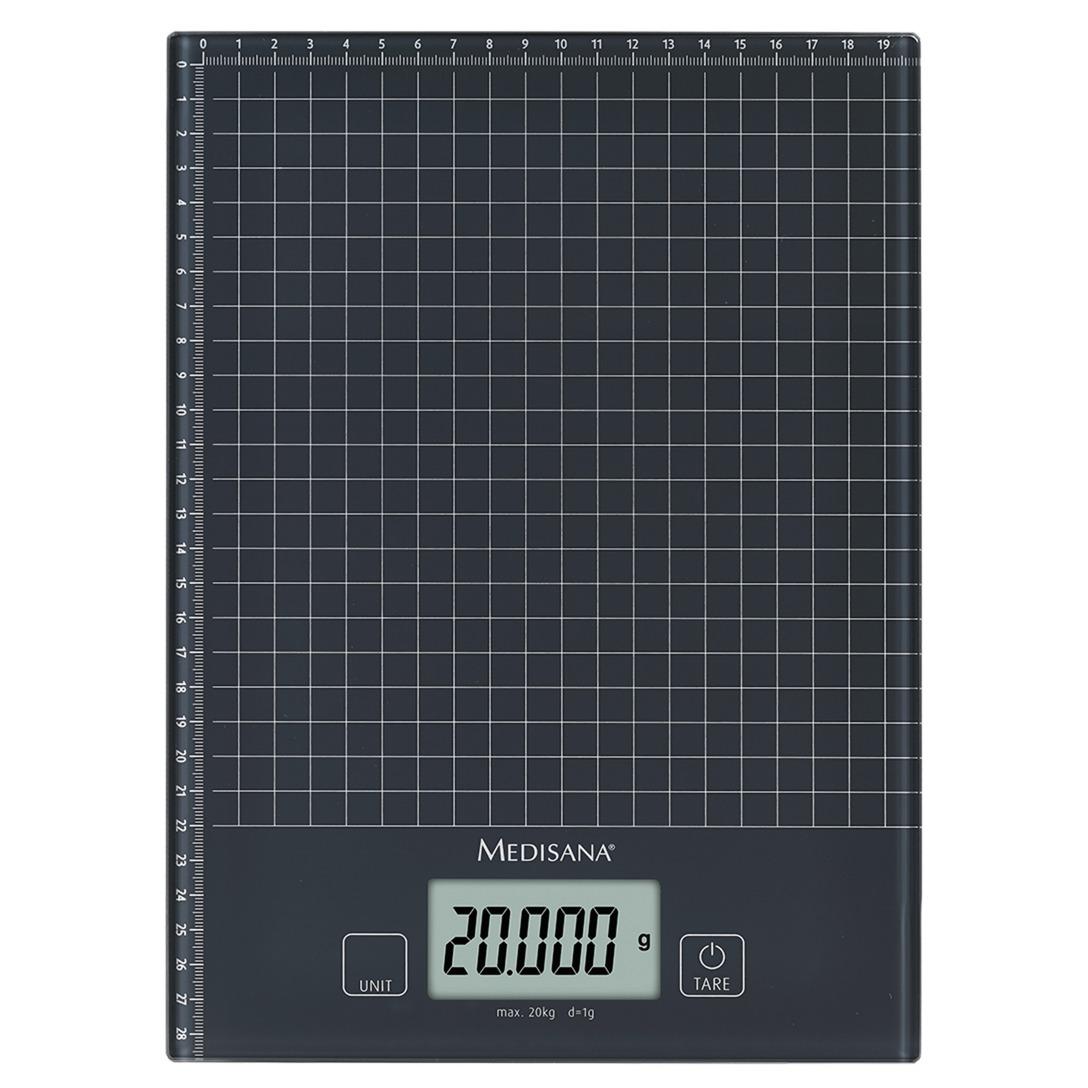 KS 240 Mesa Rectángulo Báscula electrónica de cocina Negro, Balanza de cocina
