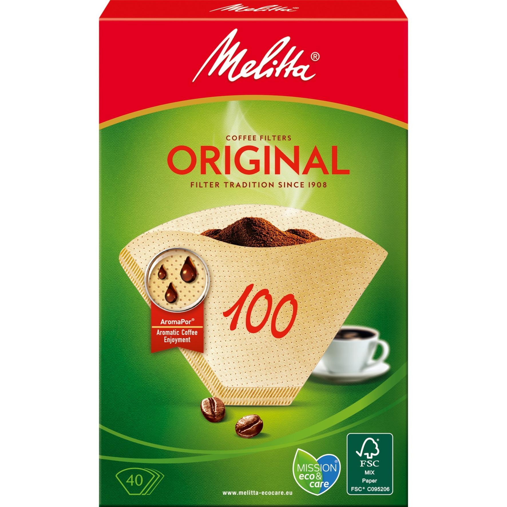 12603.3 filtro de café Filtro de café desechable Marrón 40 pieza(s), Filtros de café