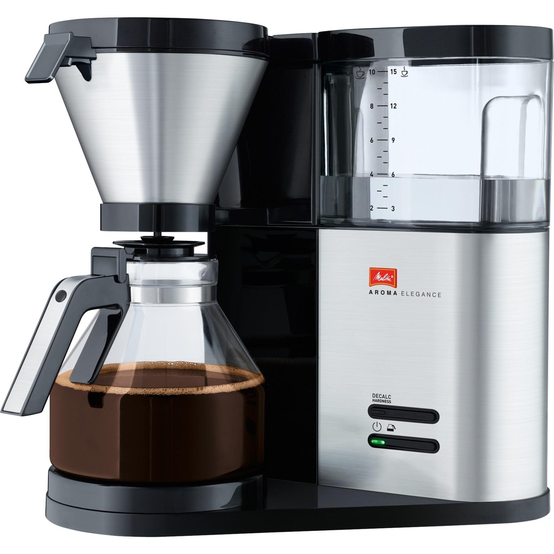 Aroma Elegance 1012-01 Independiente Cafetera de filtro Acero inoxidable 1,25 L 10 tazas Semi-automática
