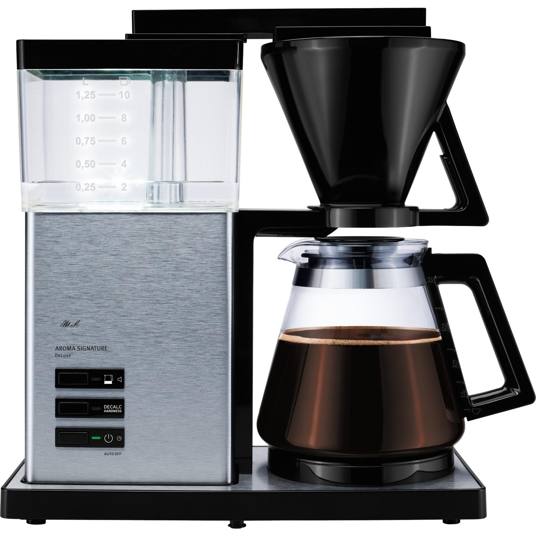 Aroma Signature deluxe Independiente Cafetera de filtro Negro, Acero inoxidable 1,25 L 10 tazas Semi-automática