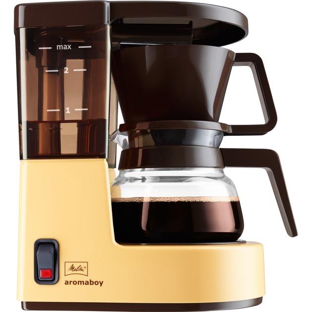 Aromaboy Independiente Cafetera de filtro Beige 2 tazas