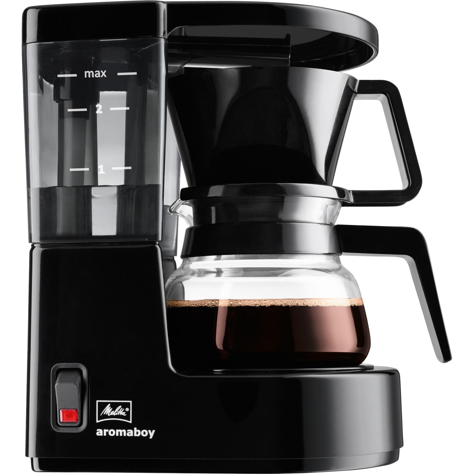 Aromaboy Independiente Cafetera de filtro Negro 2 tazas