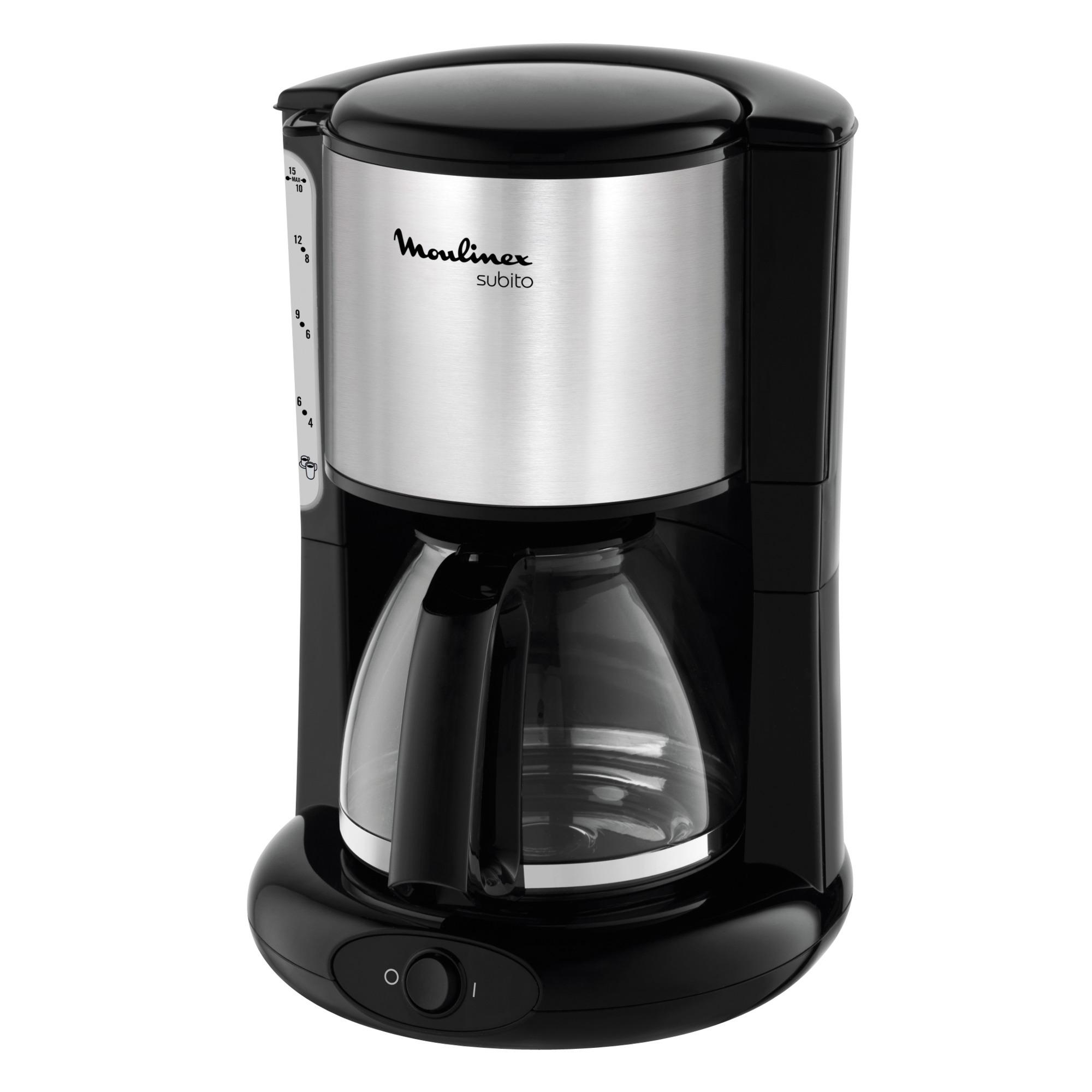 FG360811 Independiente Cafetera de filtro Negro, Acero inoxidable cafetera eléctrica