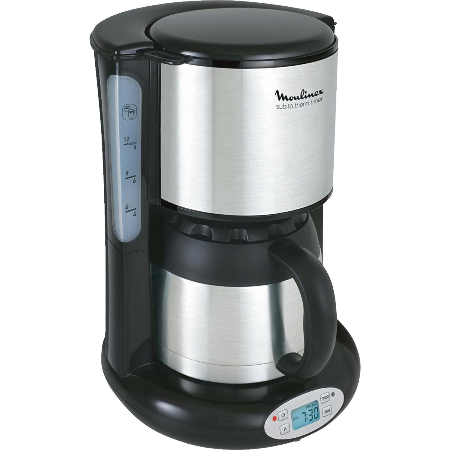 FT 362811 Independiente Totalmente automática Cafetera de filtro 0.9L 12tazas Negro, Acero inoxidable