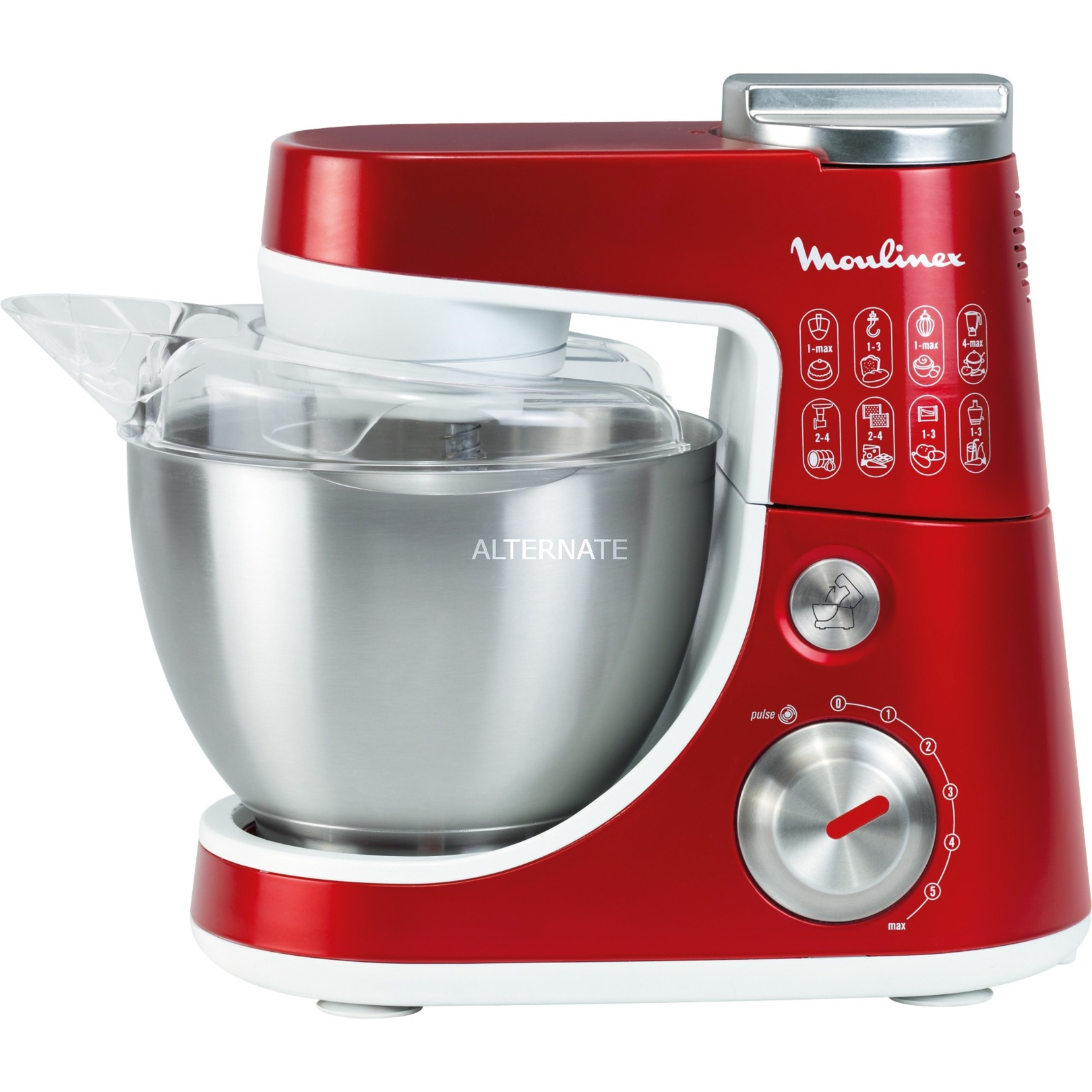 QA404G robot de cocina 4 L Rojo 900 W